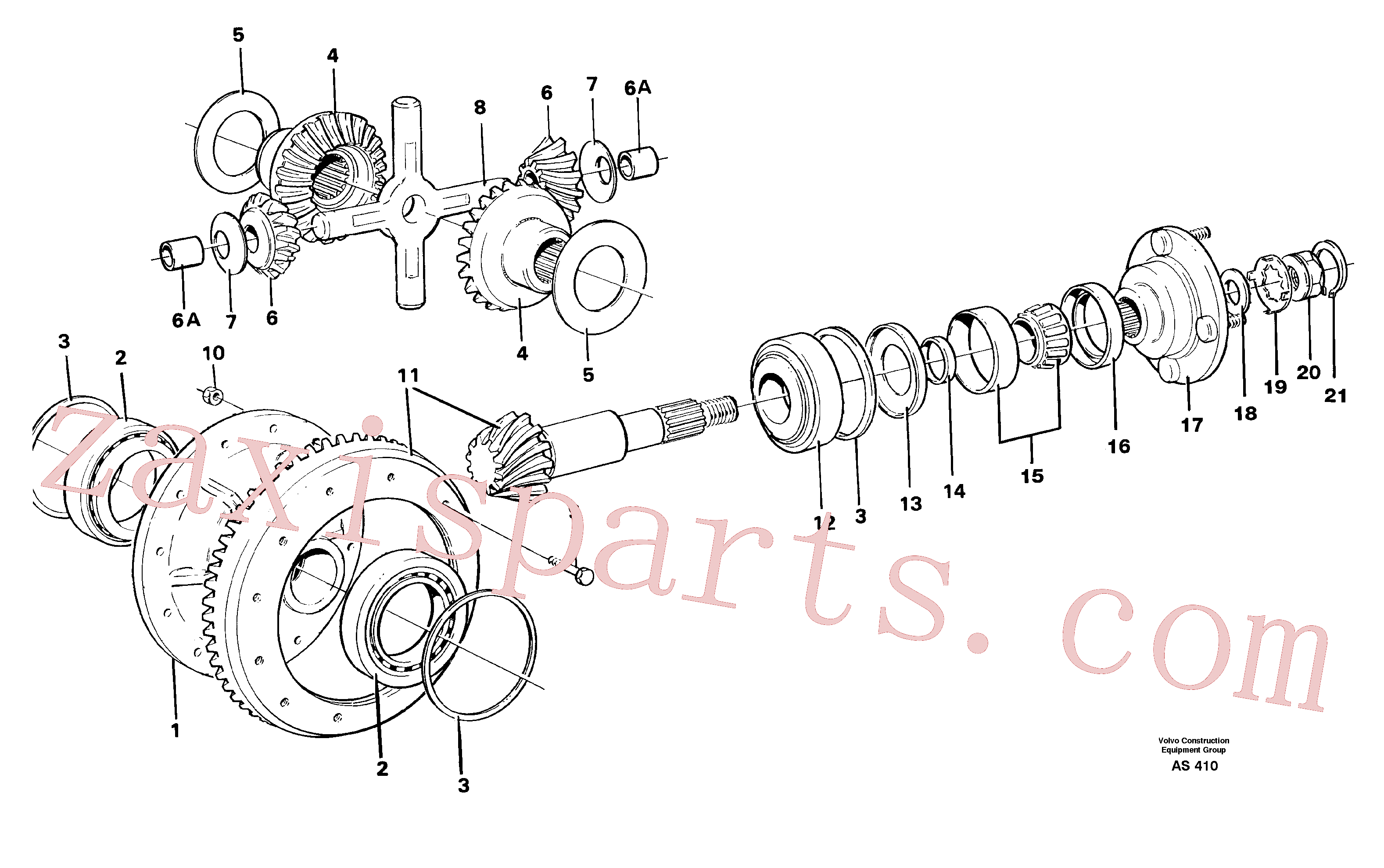 VOE11035920 for Volvo Differential carrier,(AS410 assembly)