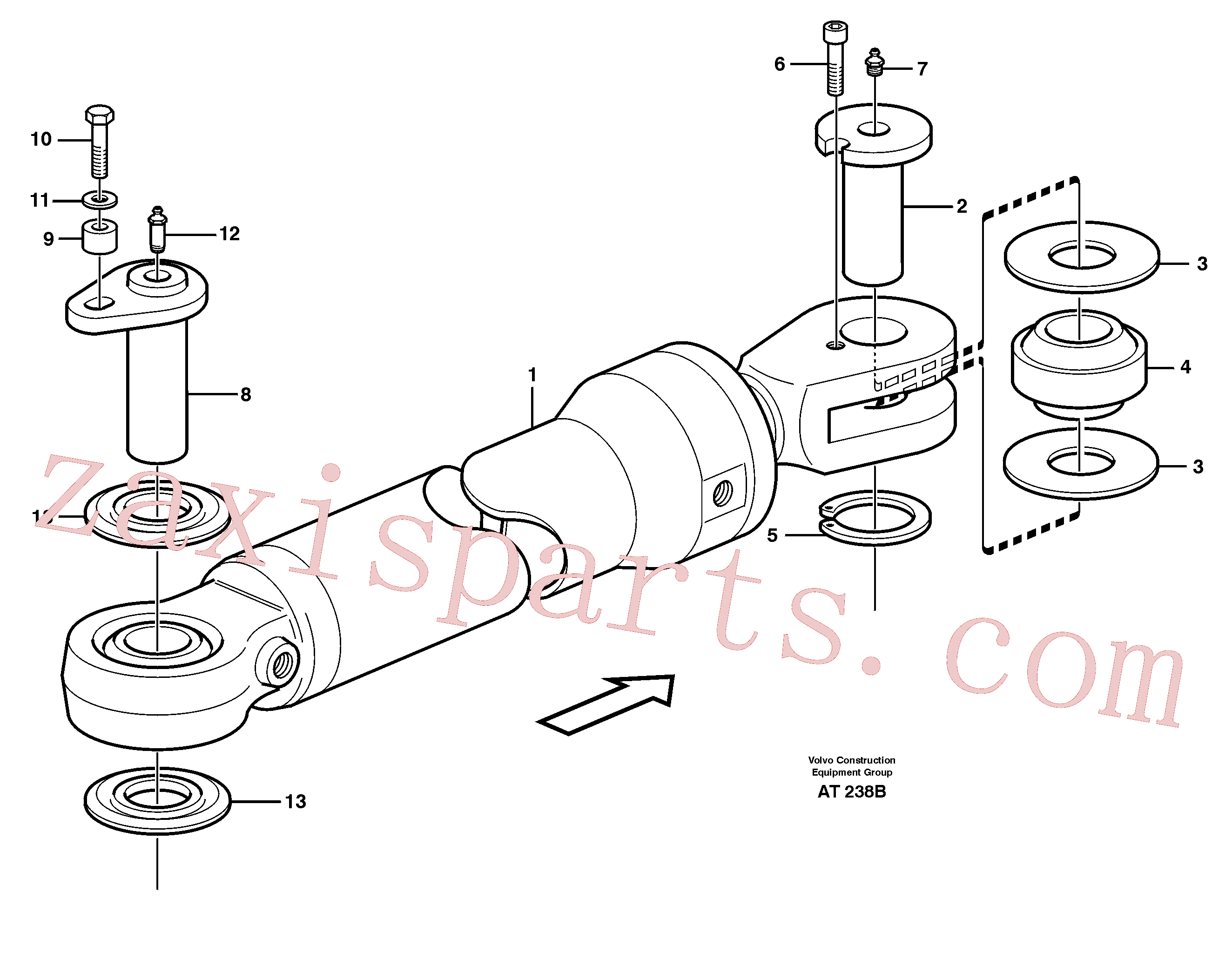 VOE11018445 for Volvo Hydraulic cylinder, assembly(AT238B assembly)
