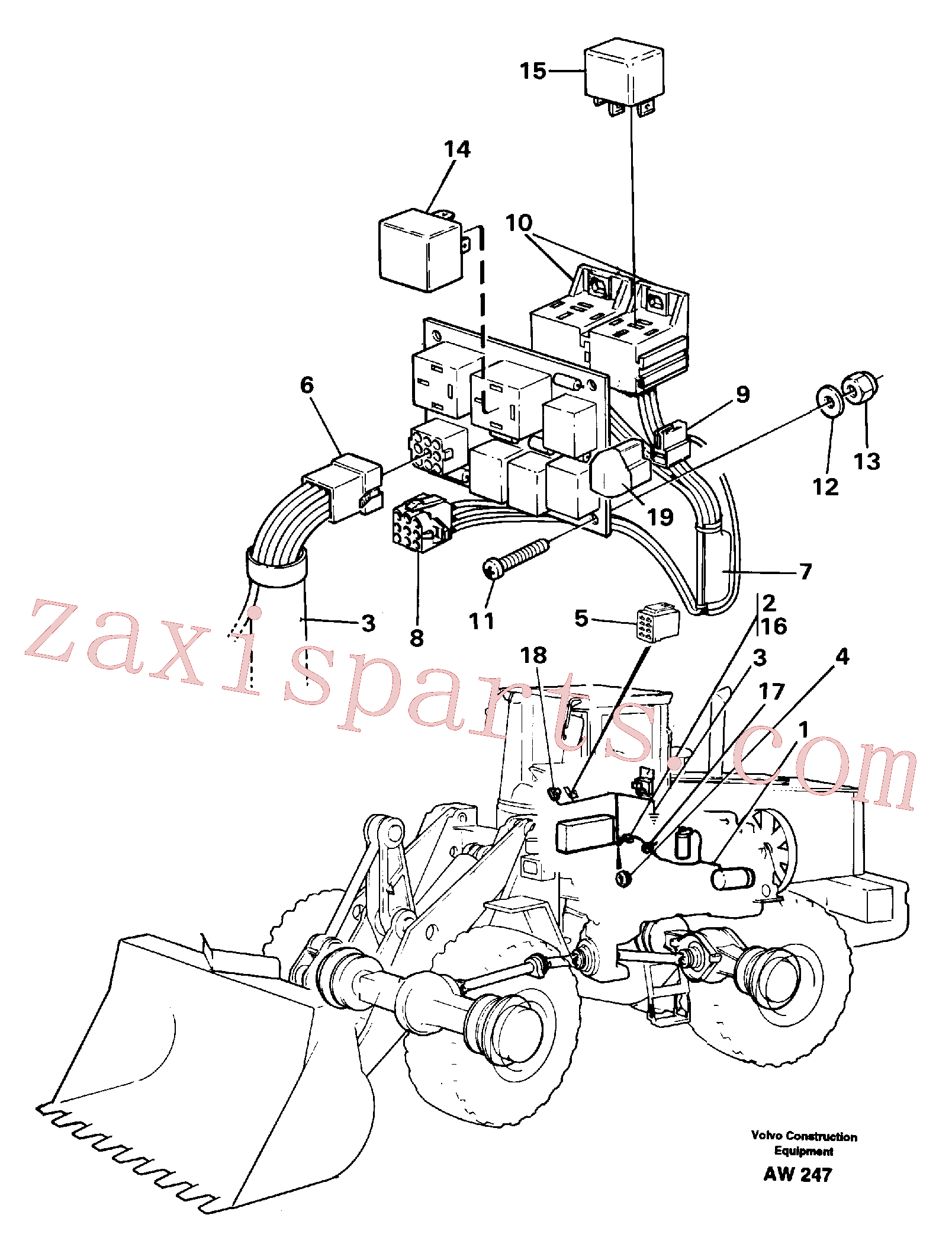 ZM7098754 for Volvo Cable harness for air conditioning.(AW247 assembly)