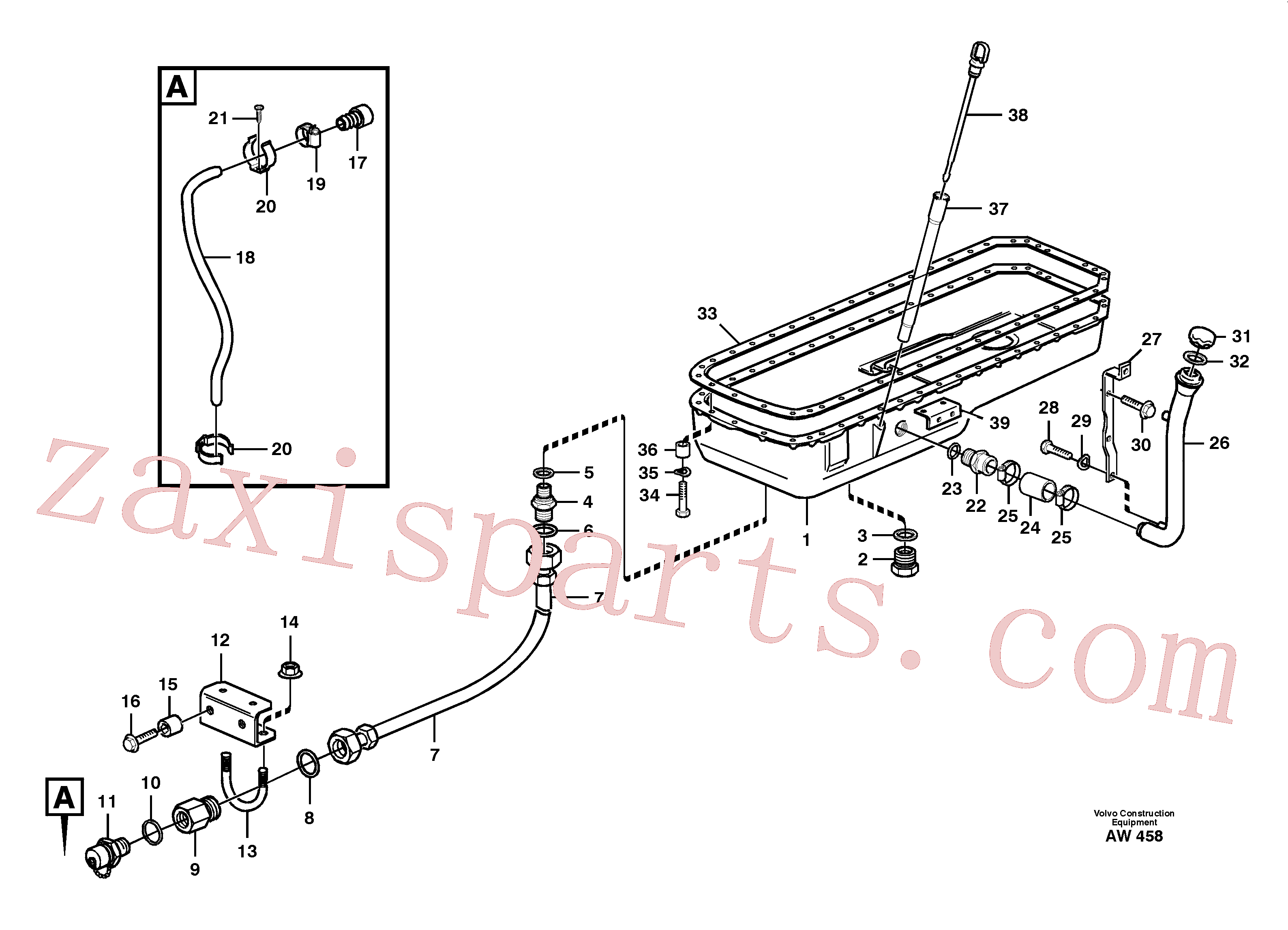 VOE4973473 for Volvo Oil sump(AW458 assembly)