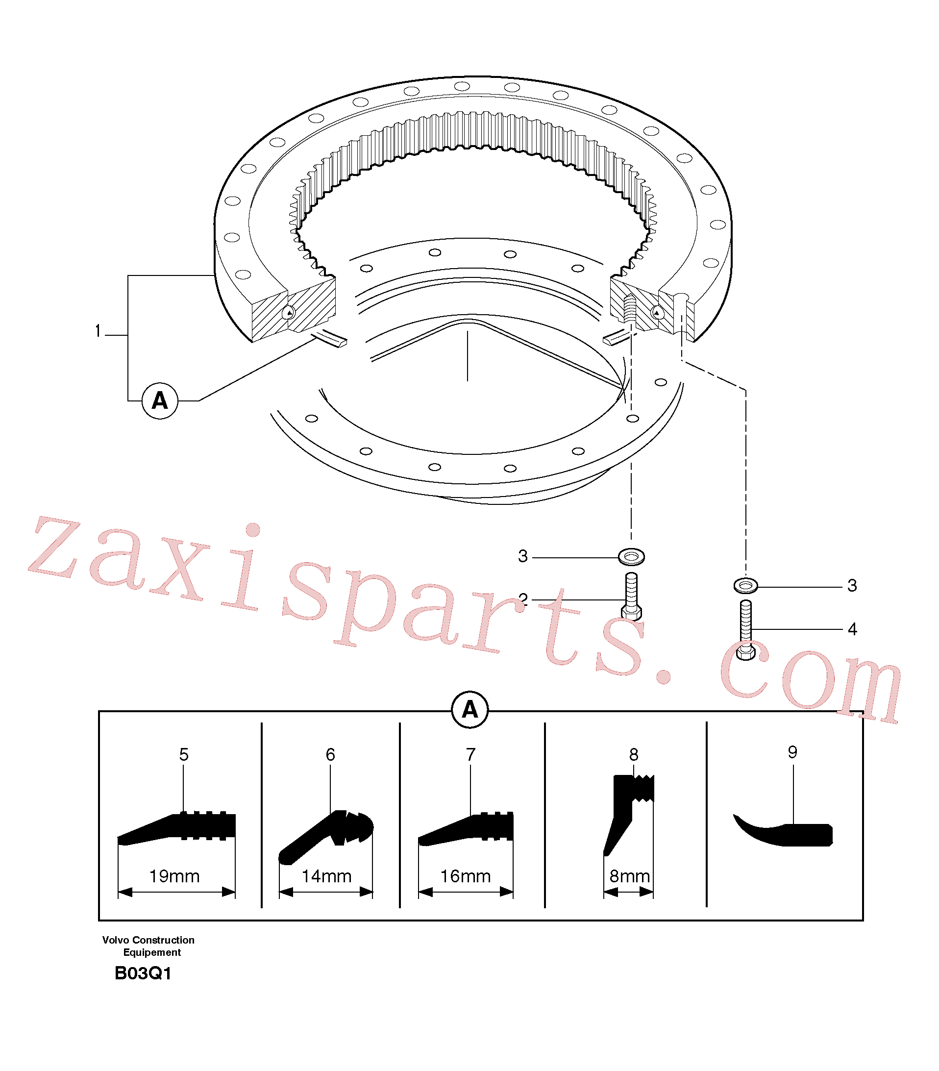 PJ7410003 for Volvo Slewing ring(B03Q1 assembly)