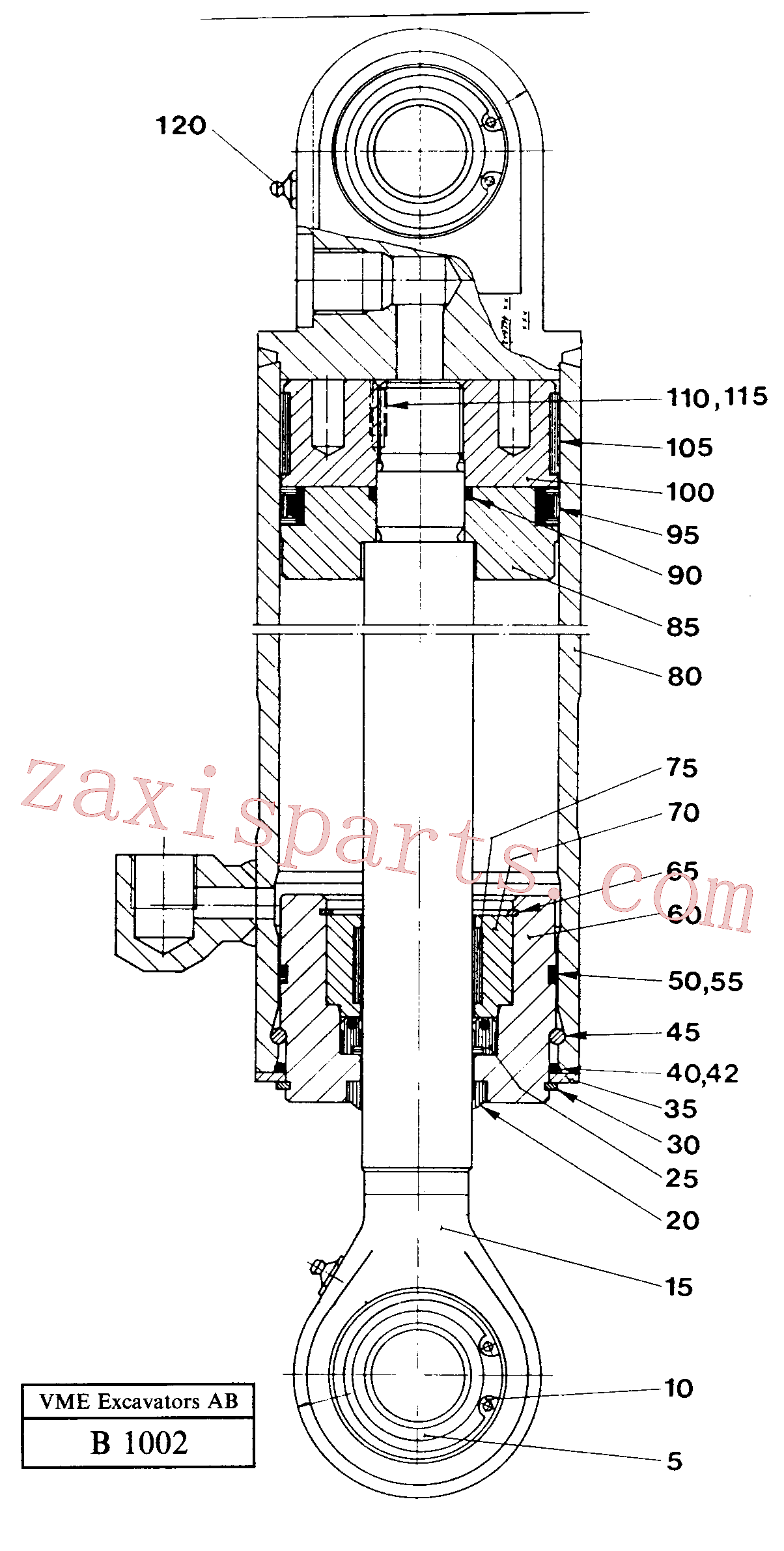 VOE14016107 for Volvo Steering cylinder(B1002 assembly)