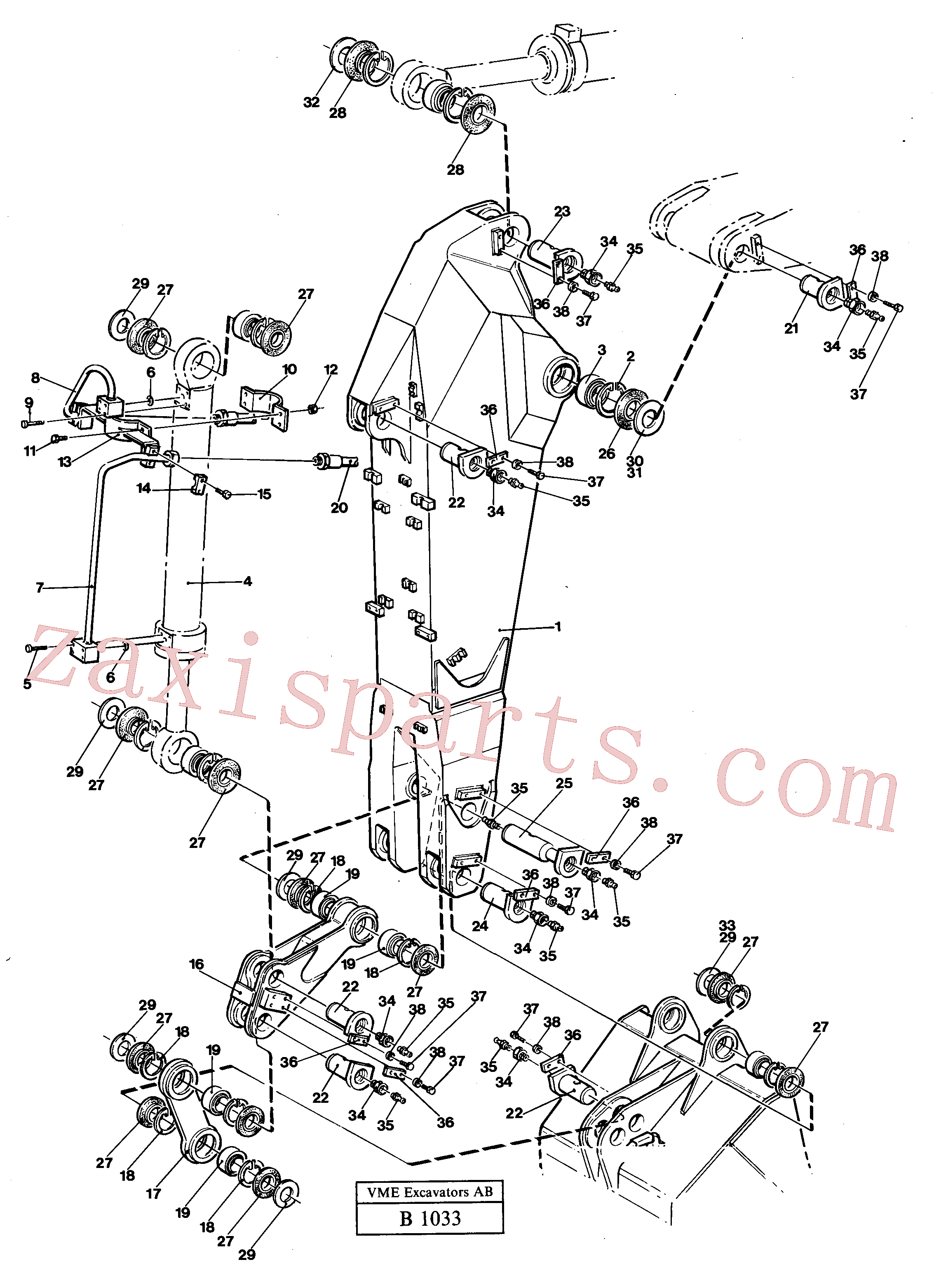 VOE14254509 for Volvo Dipper 2.25m(B1033 assembly)