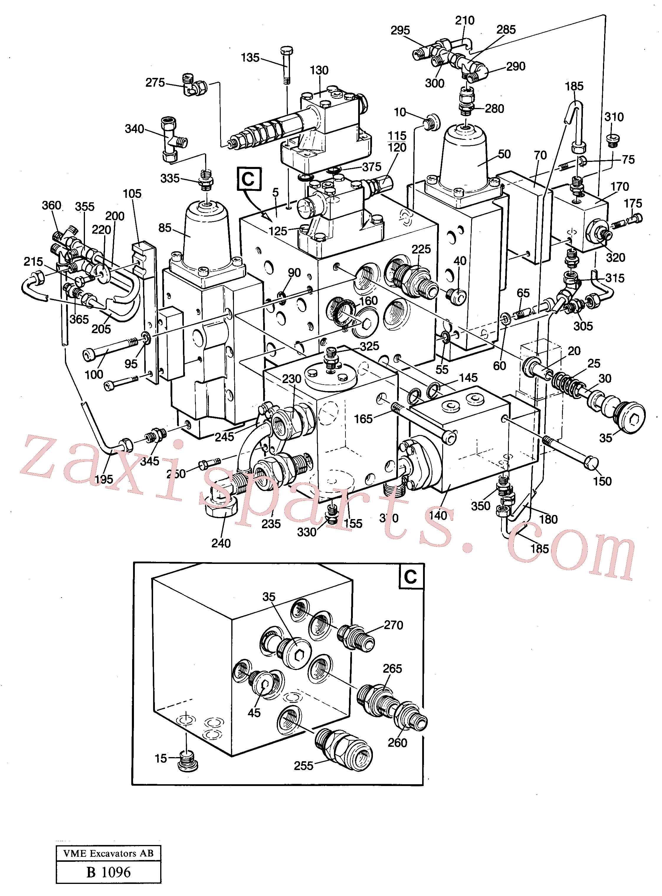 VOE14049759 for Volvo Slew valve assembly(B1096 assembly)