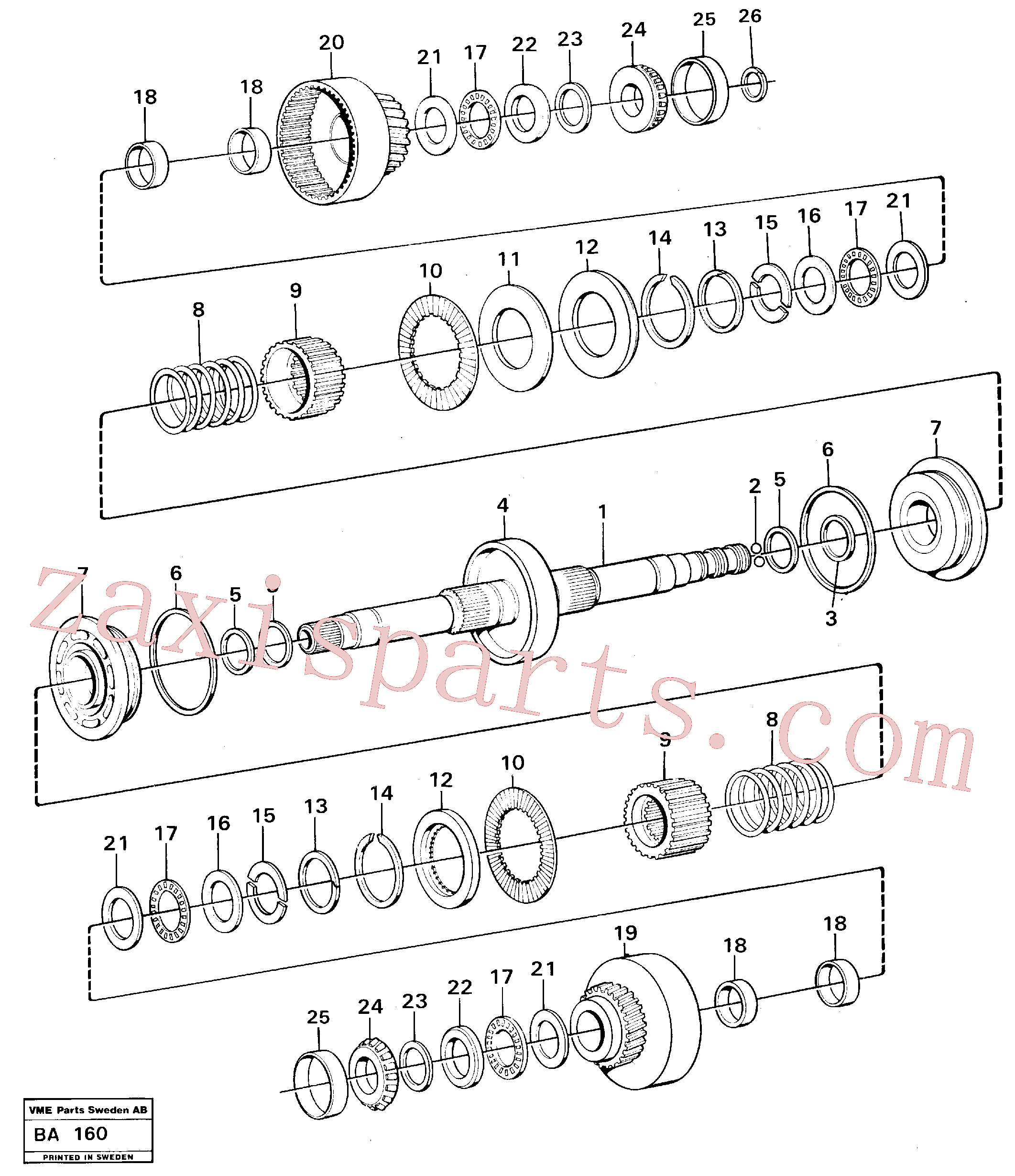 VOE11037147 for Volvo Clutches forward and reverse(BA160 assembly)