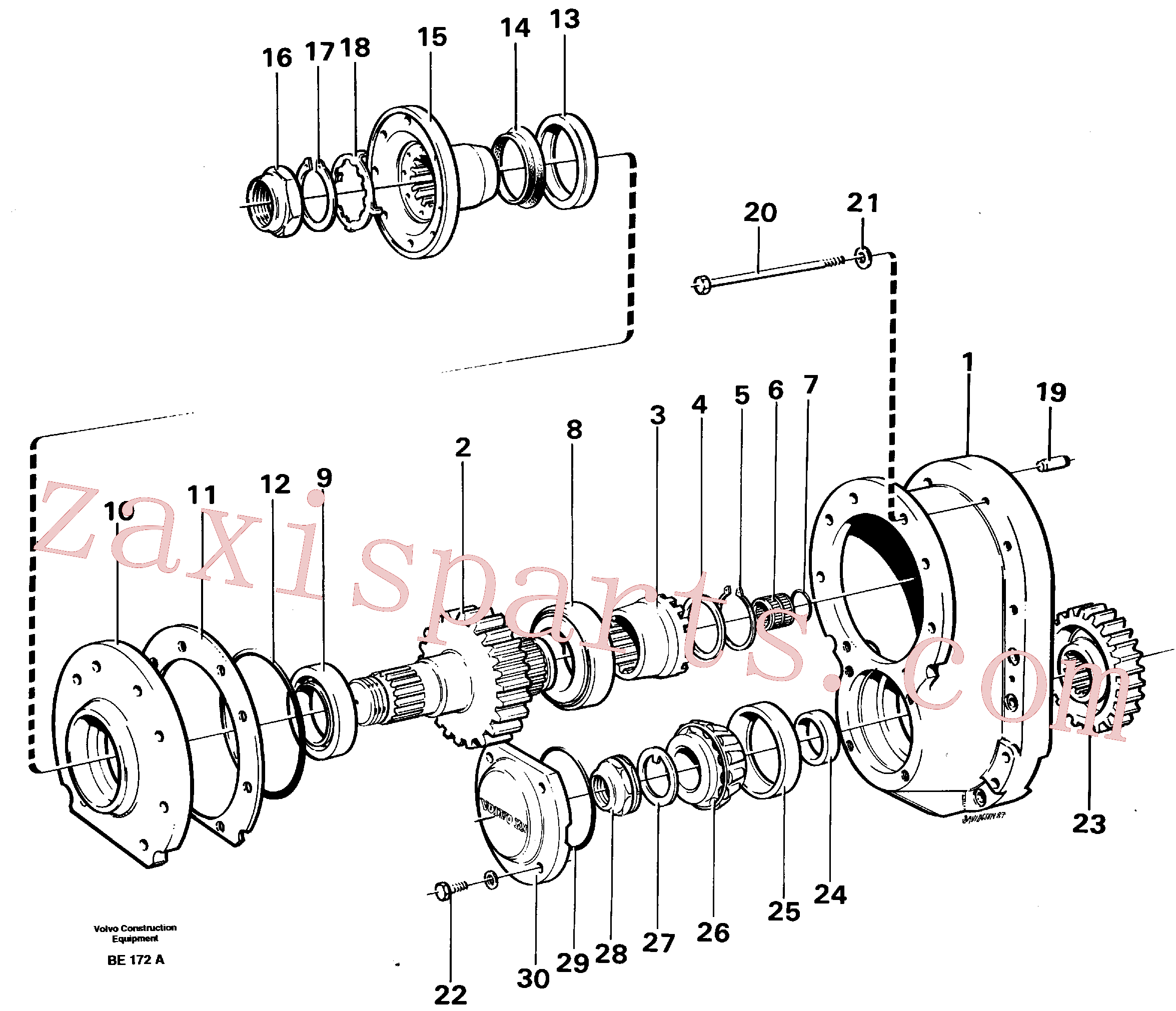 VOE955360 for Volvo Final gear(BE172A assembly)