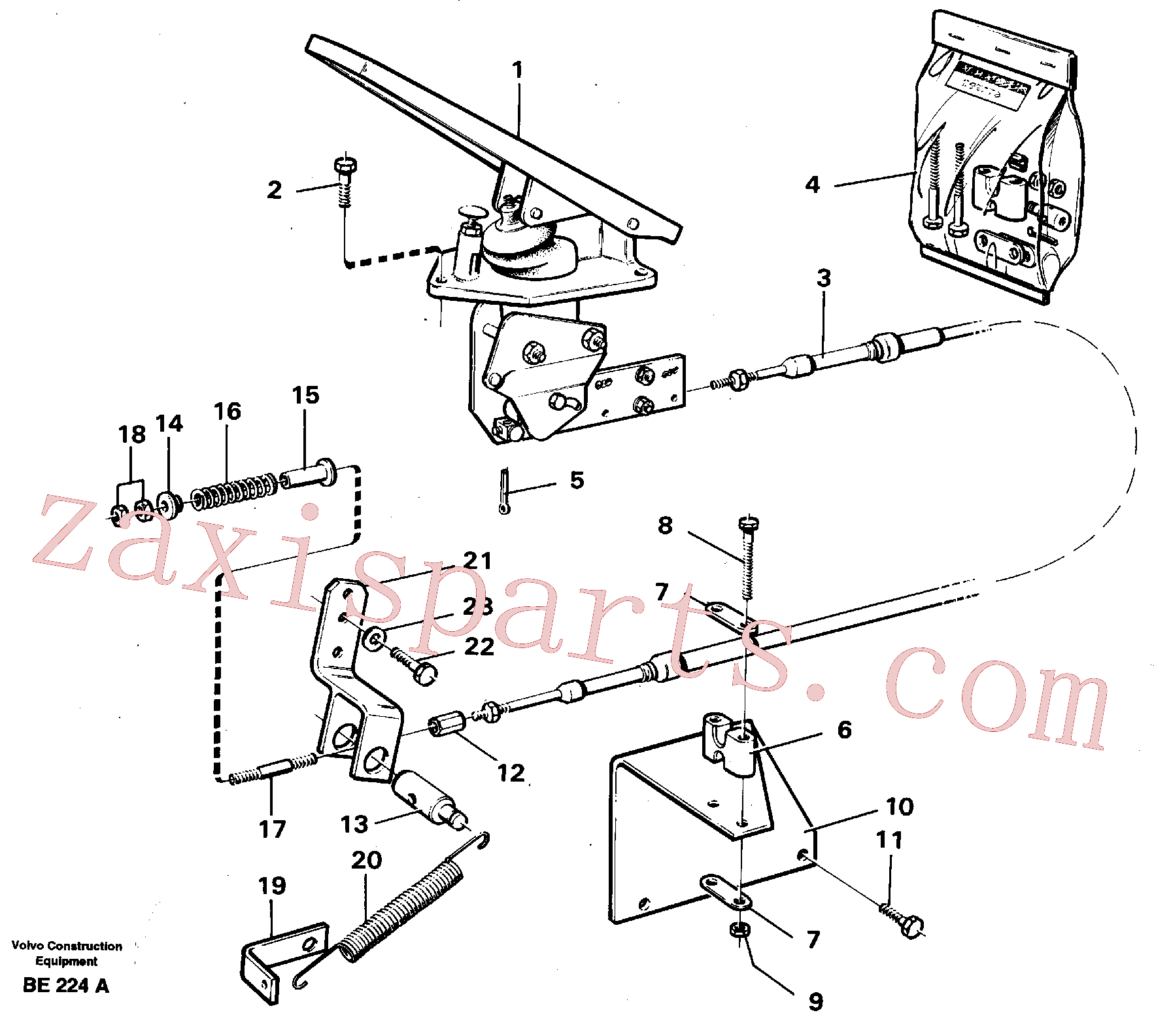 VOE13940133 for Volvo Governor controls.(BE224A assembly)