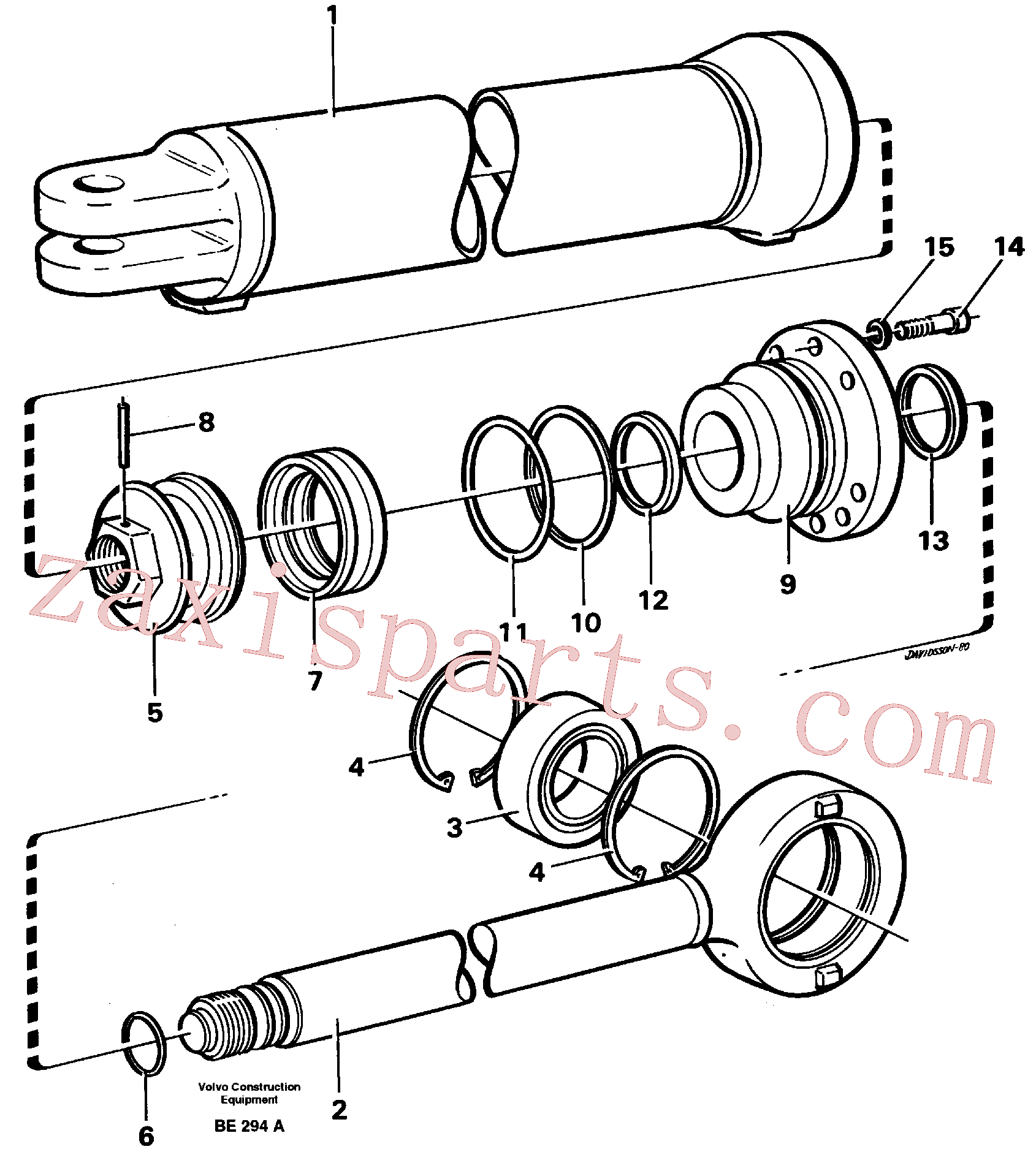 VOE13960178 for Volvo Hydraulic cylinder(BE294A assembly)