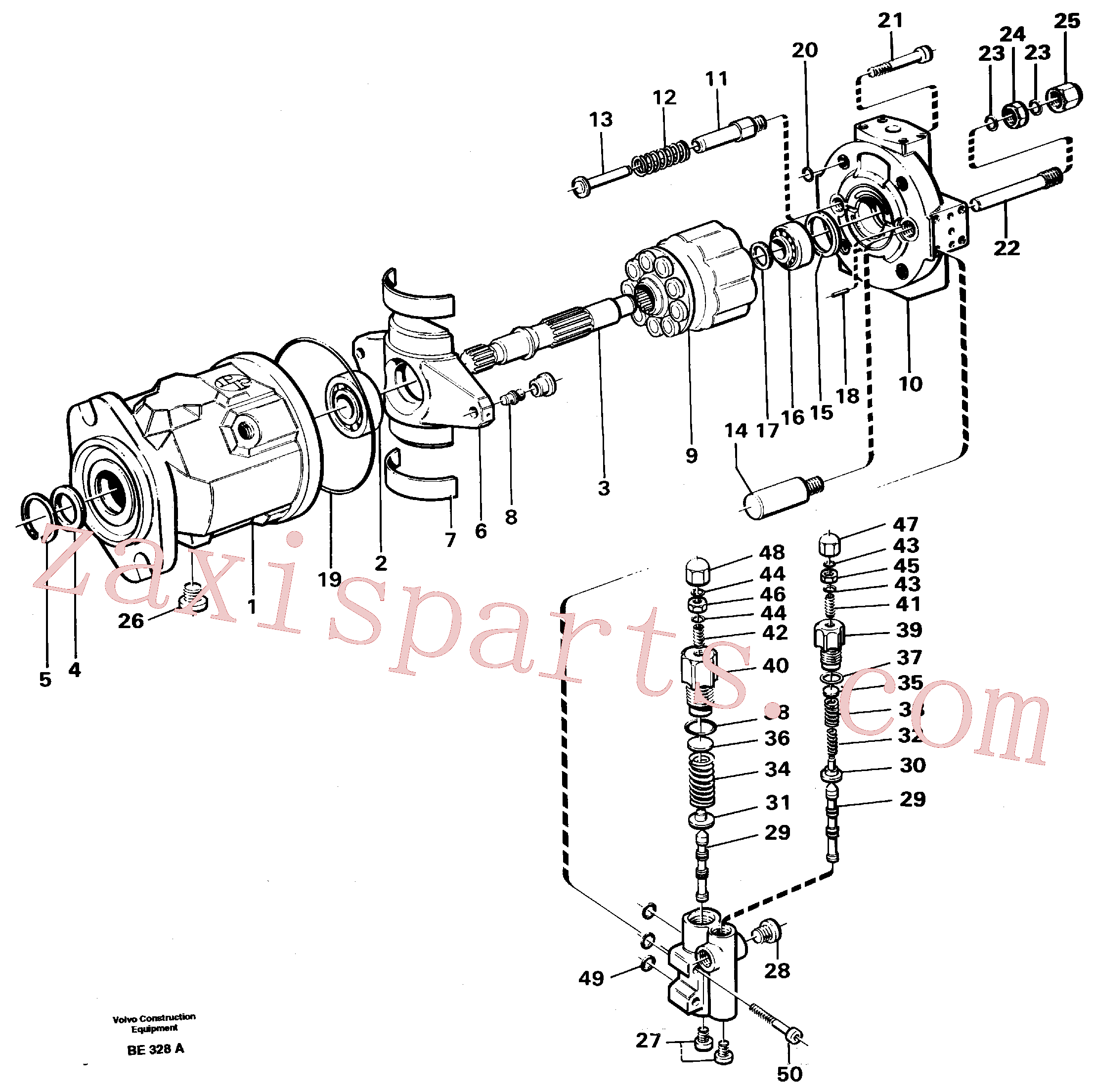 VOE11992750 for Volvo Hydraulic pump(BE328A assembly)