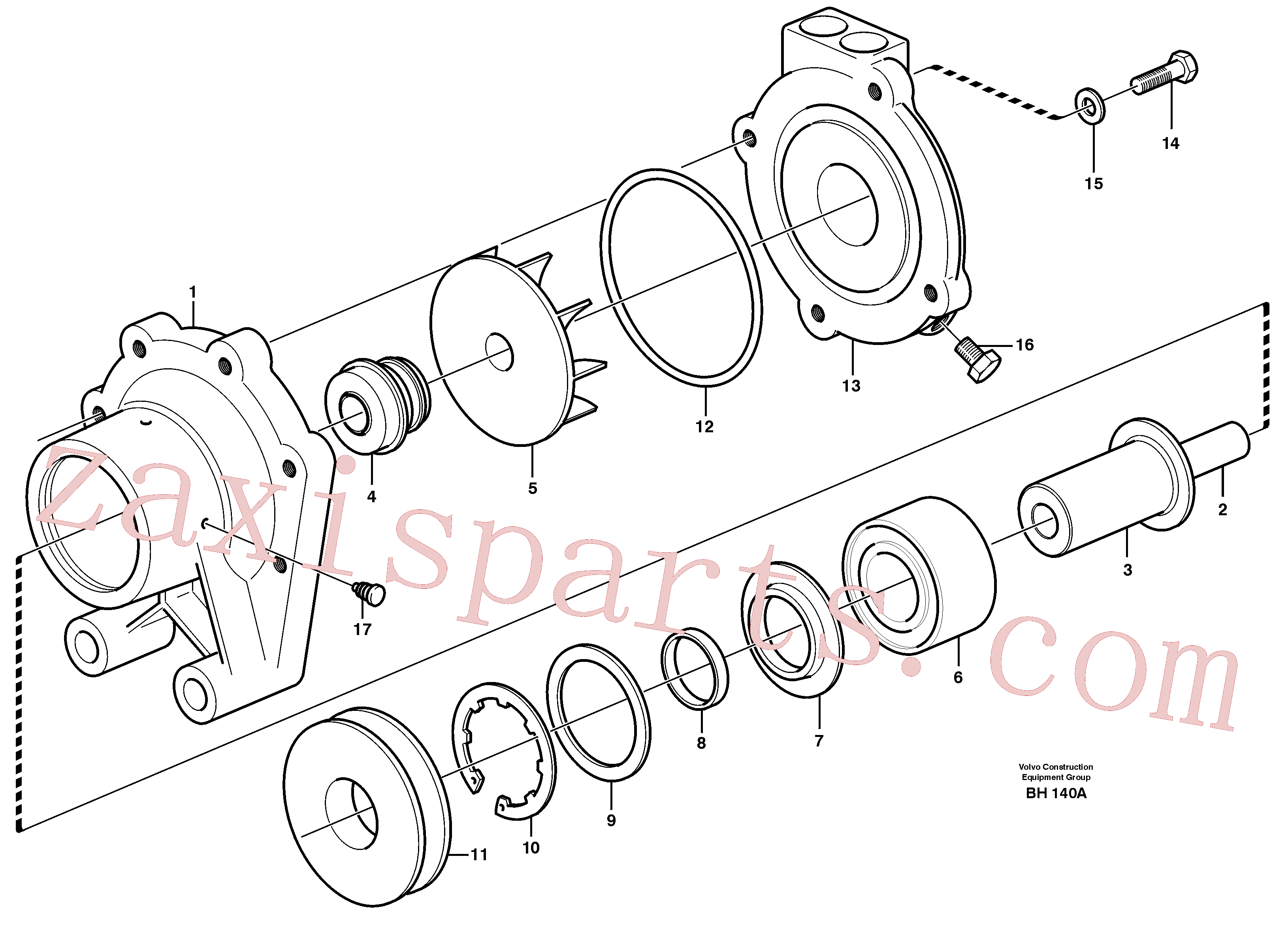 VOE11710604 for Volvo Water pump, intercooler(BH140A assembly)