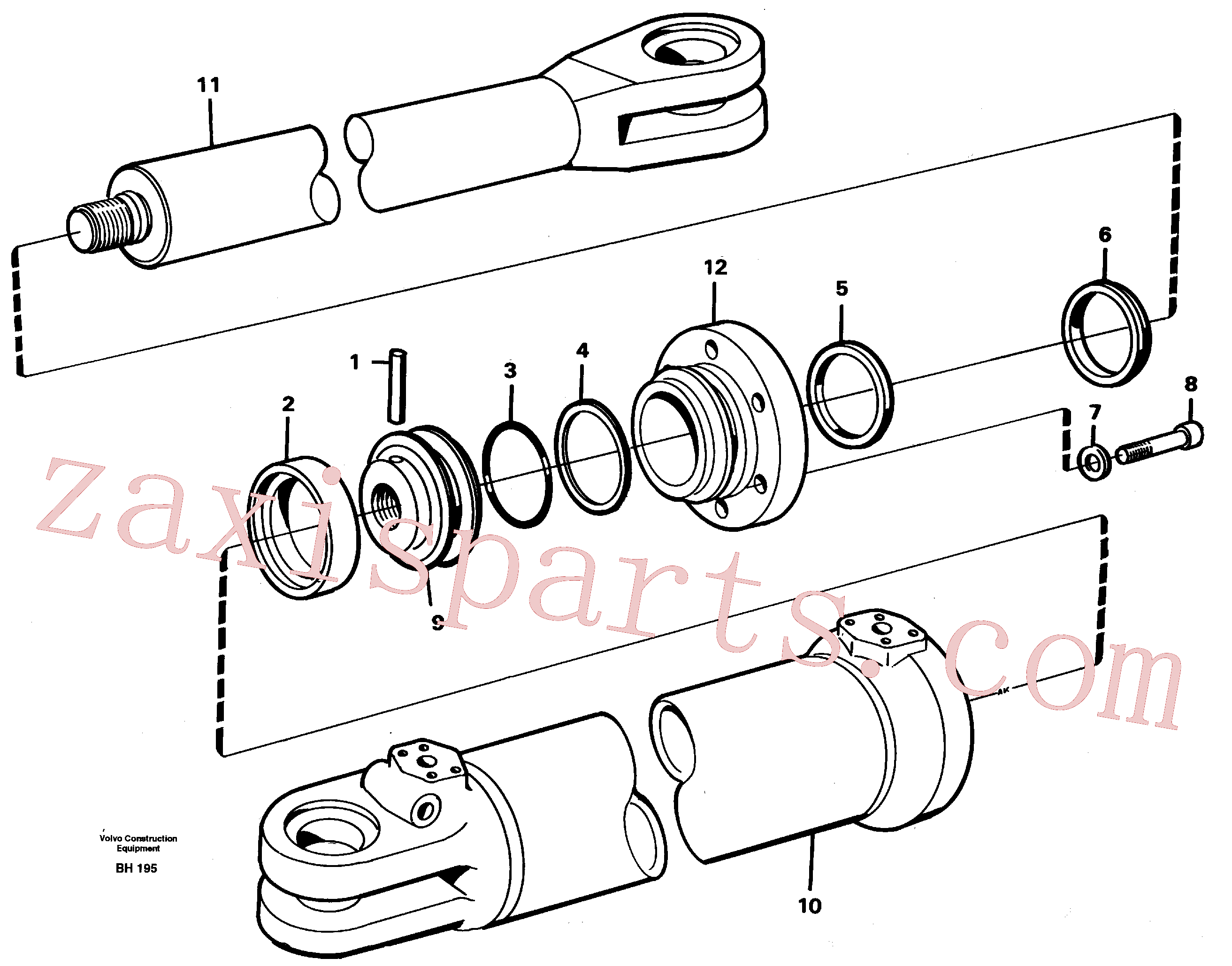 VOE4833025 for Volvo Steering cylinder(BH195 assembly)