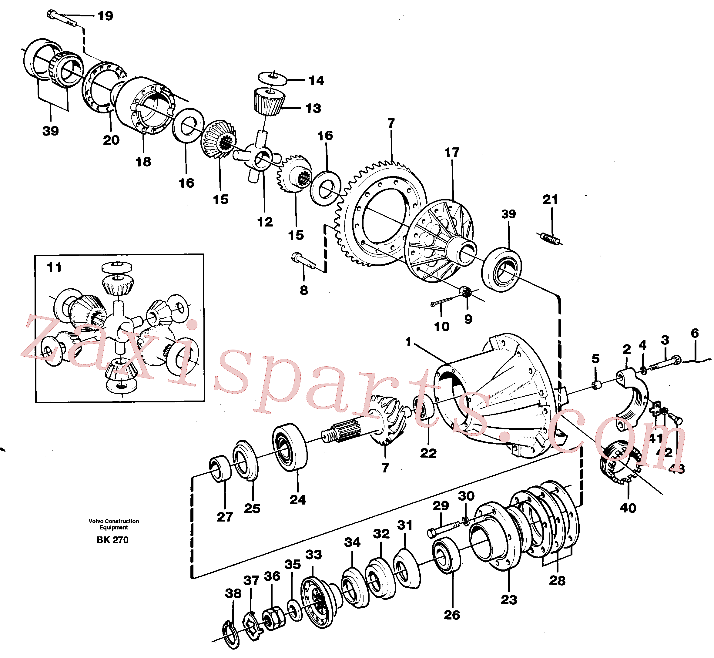 VOE4717626 for Volvo Final drive(BK270 assembly)