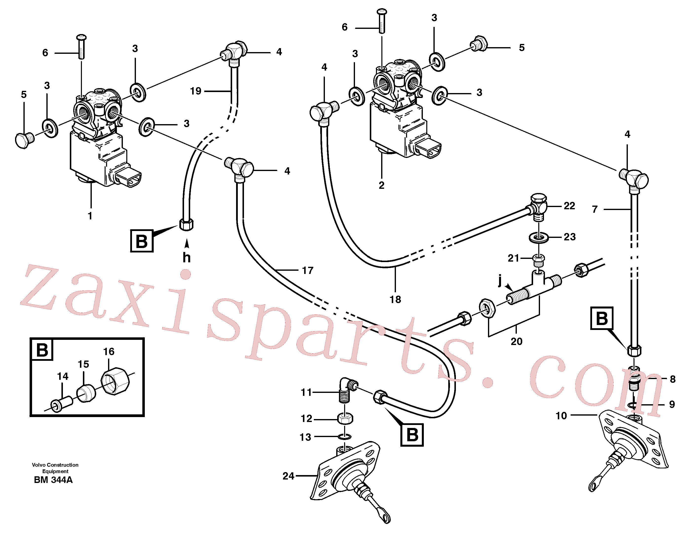 VOE13945901 for Volvo Pneumatic system, diff lock, cab(BM344A assembly)