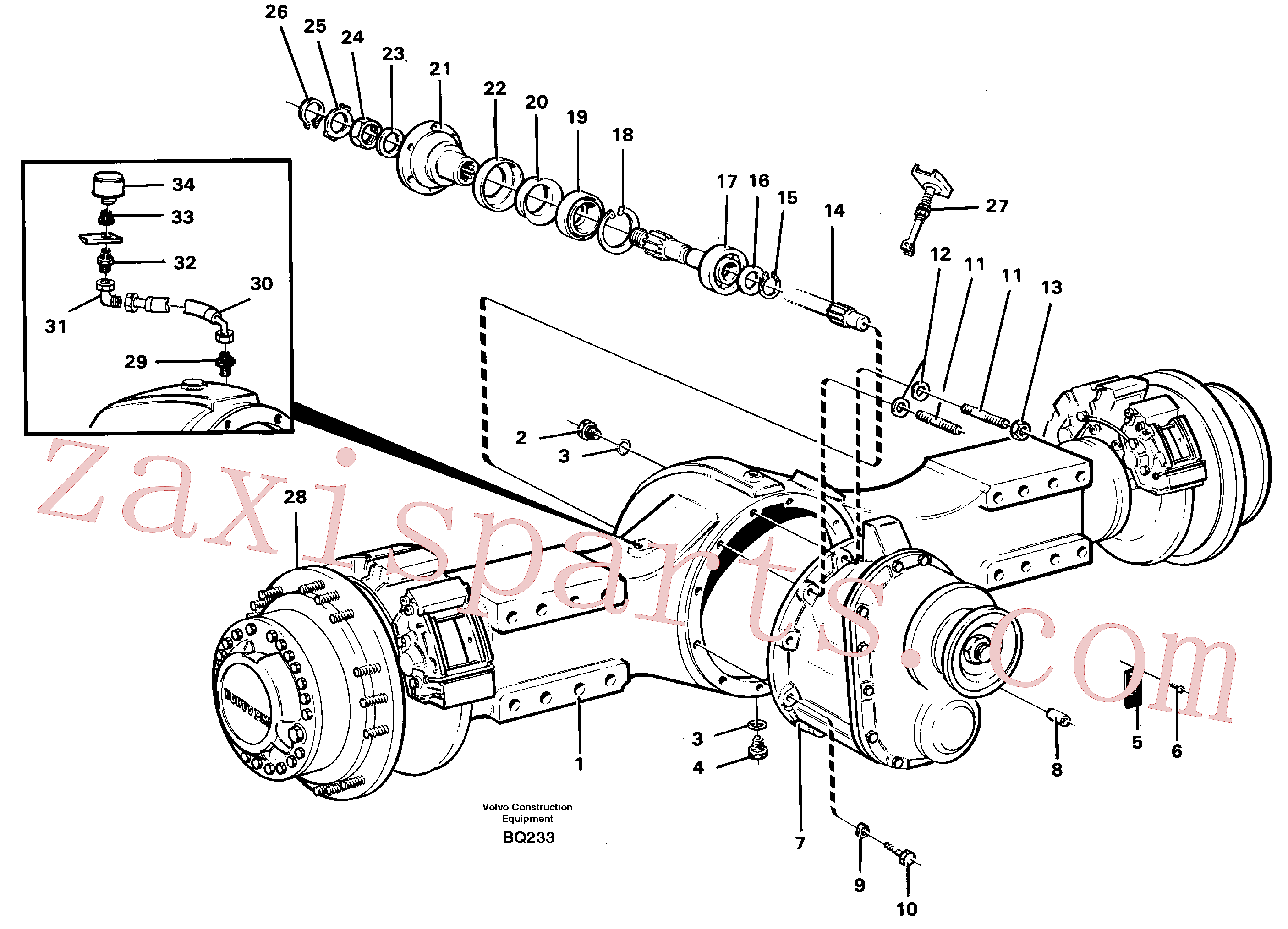 SA9541-01065 for Volvo Planetary axle, axle 1 load unit(BQ233 assembly)