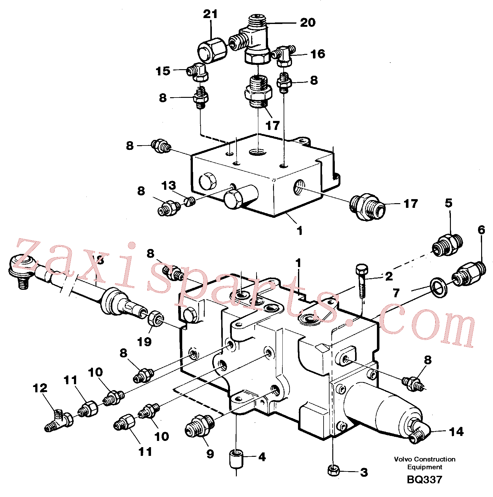 VOE971081 for Volvo Control valve with fitting parts(BQ337 assembly)