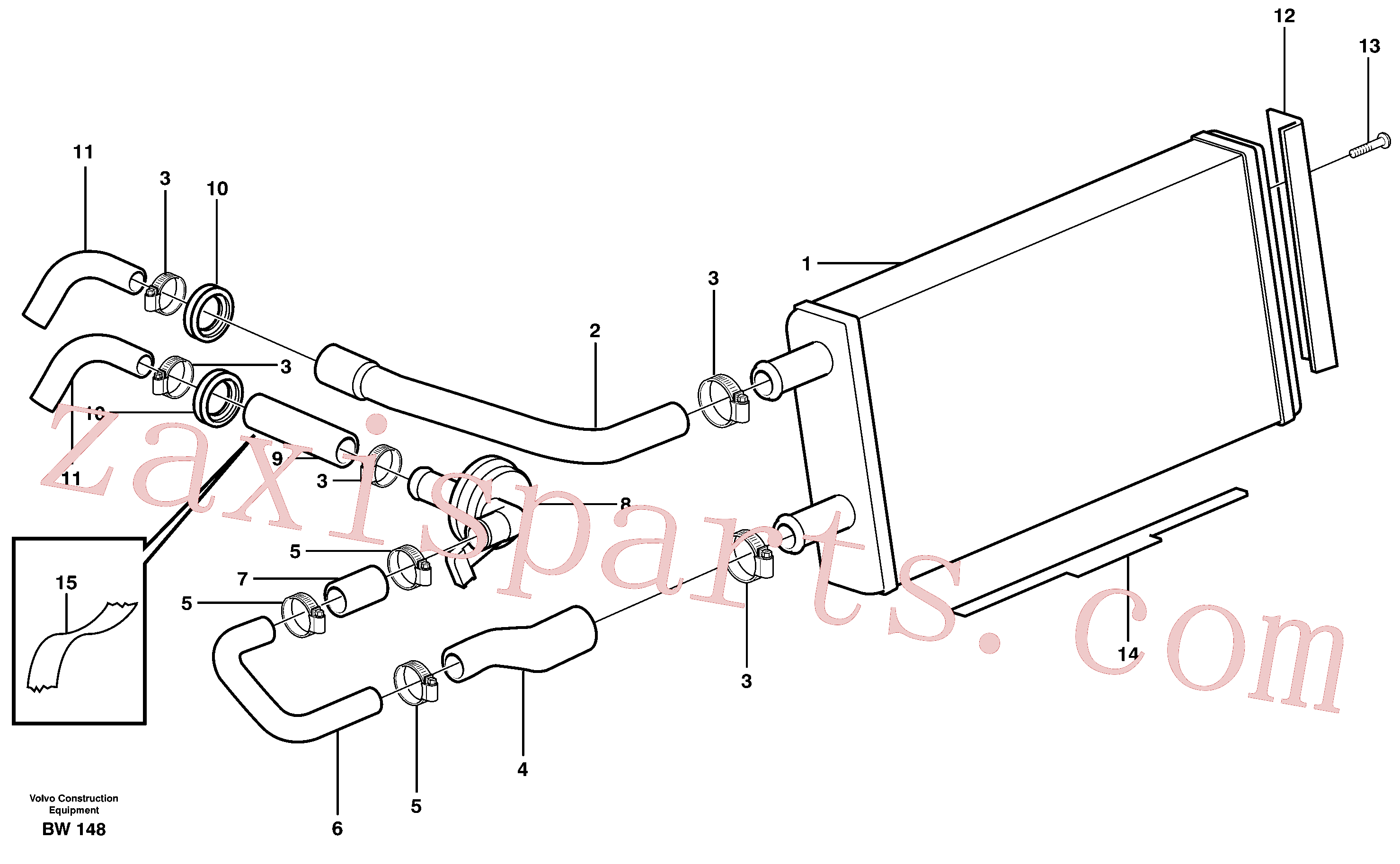 VOE943368 for Volvo Heating unit(BW148 assembly)