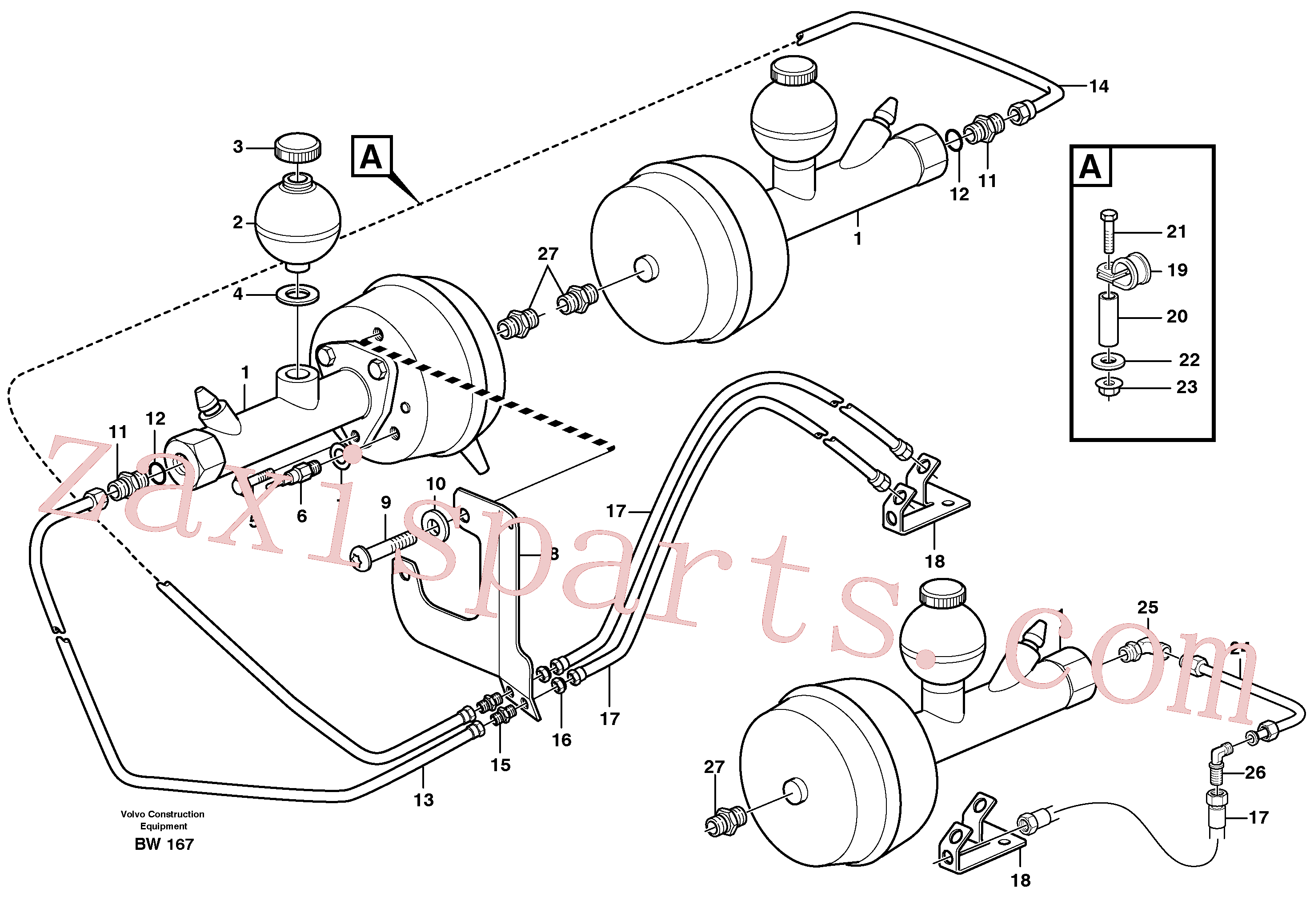 VOE947627 for Volvo Hydraulic brake system, load unit(BW167 assembly)
