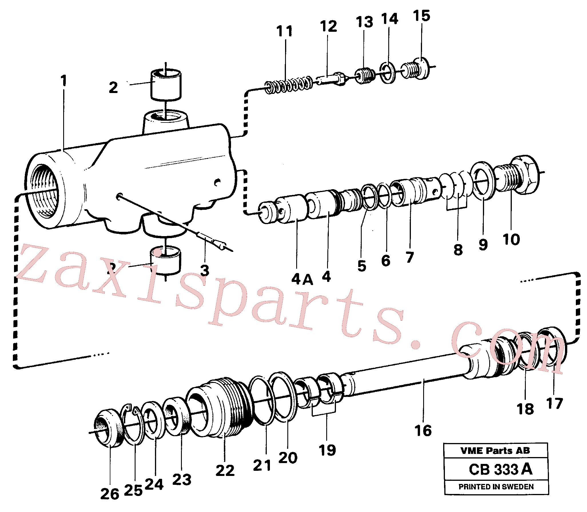 VOE13962548 for Volvo Hydraulic cylinder(CB333A assembly)