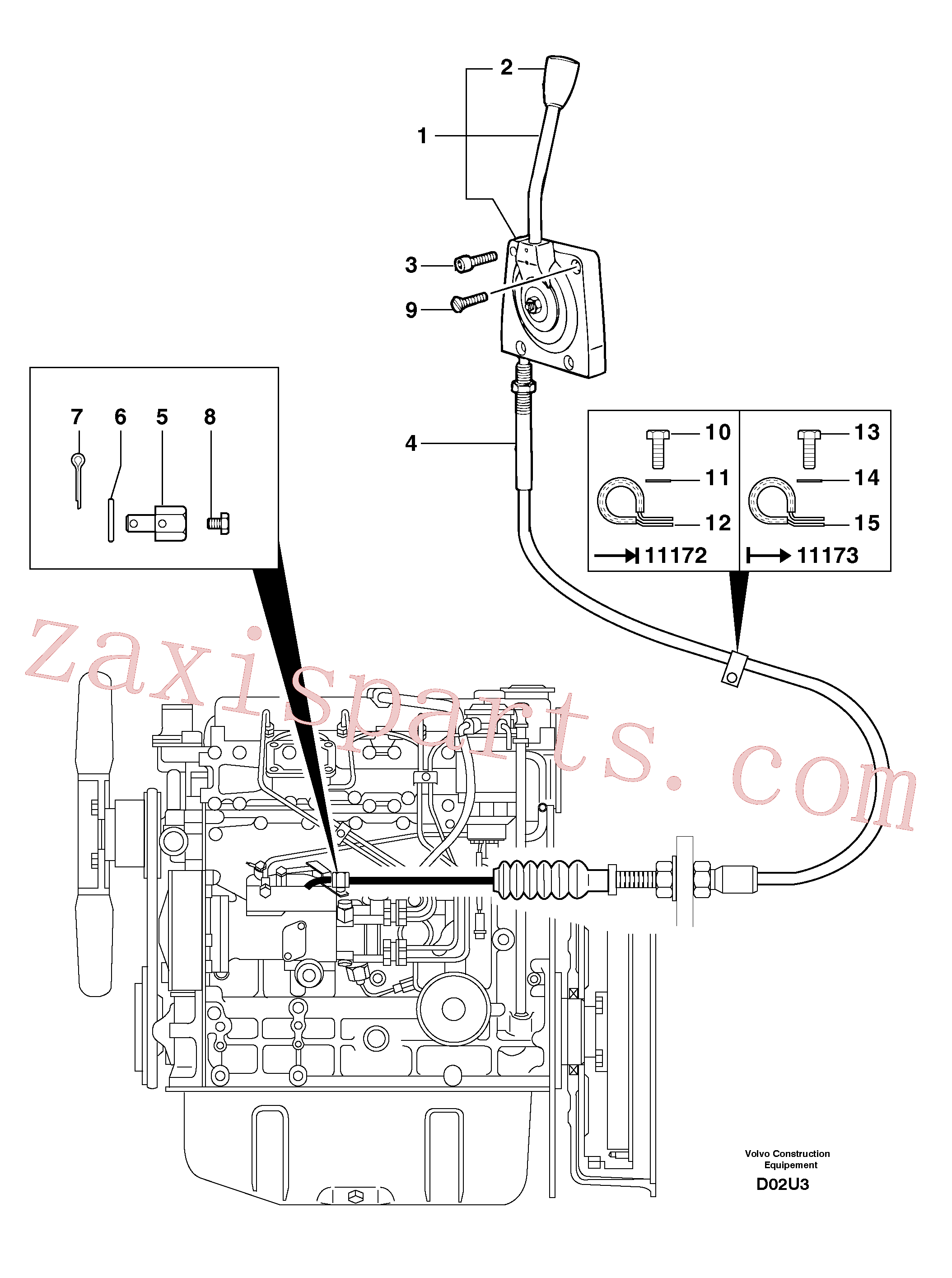 PJ4690189 for Volvo Engine acceleration control(D02U3 assembly)