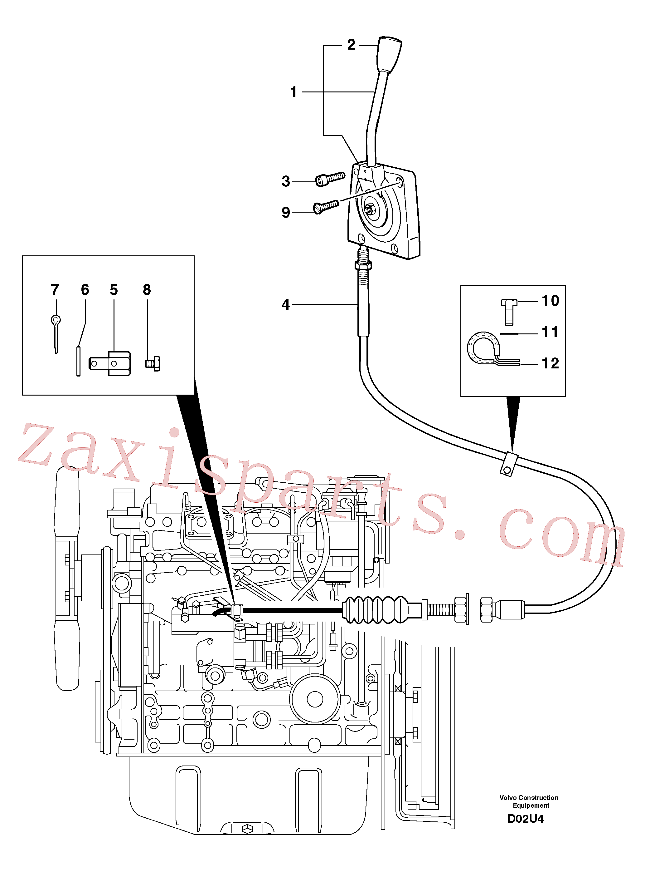 PJ4690189 for Volvo Engine acceleration control(D02U4 assembly)