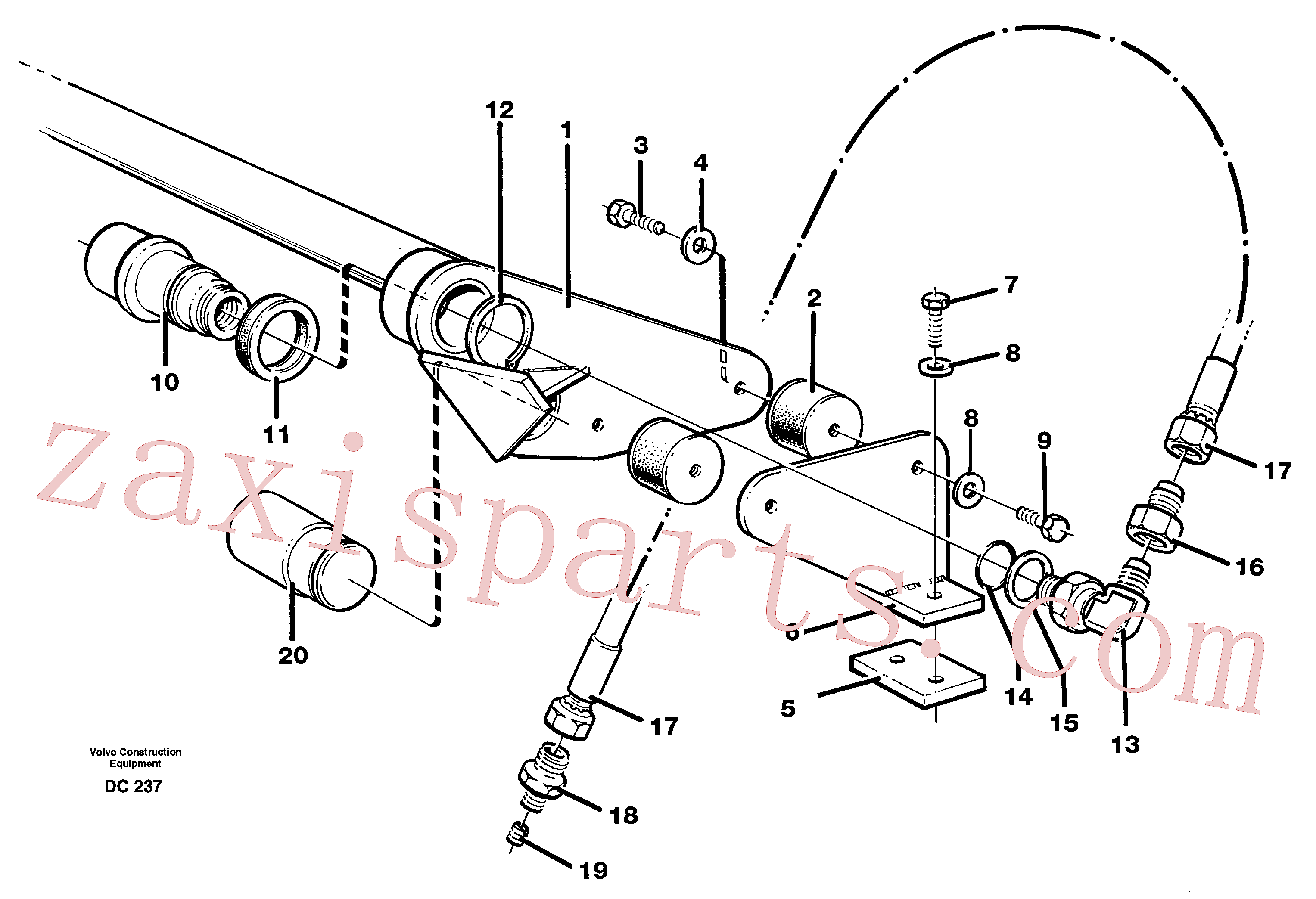 VOE4859176 for Volvo Ahc(DC237 assembly)