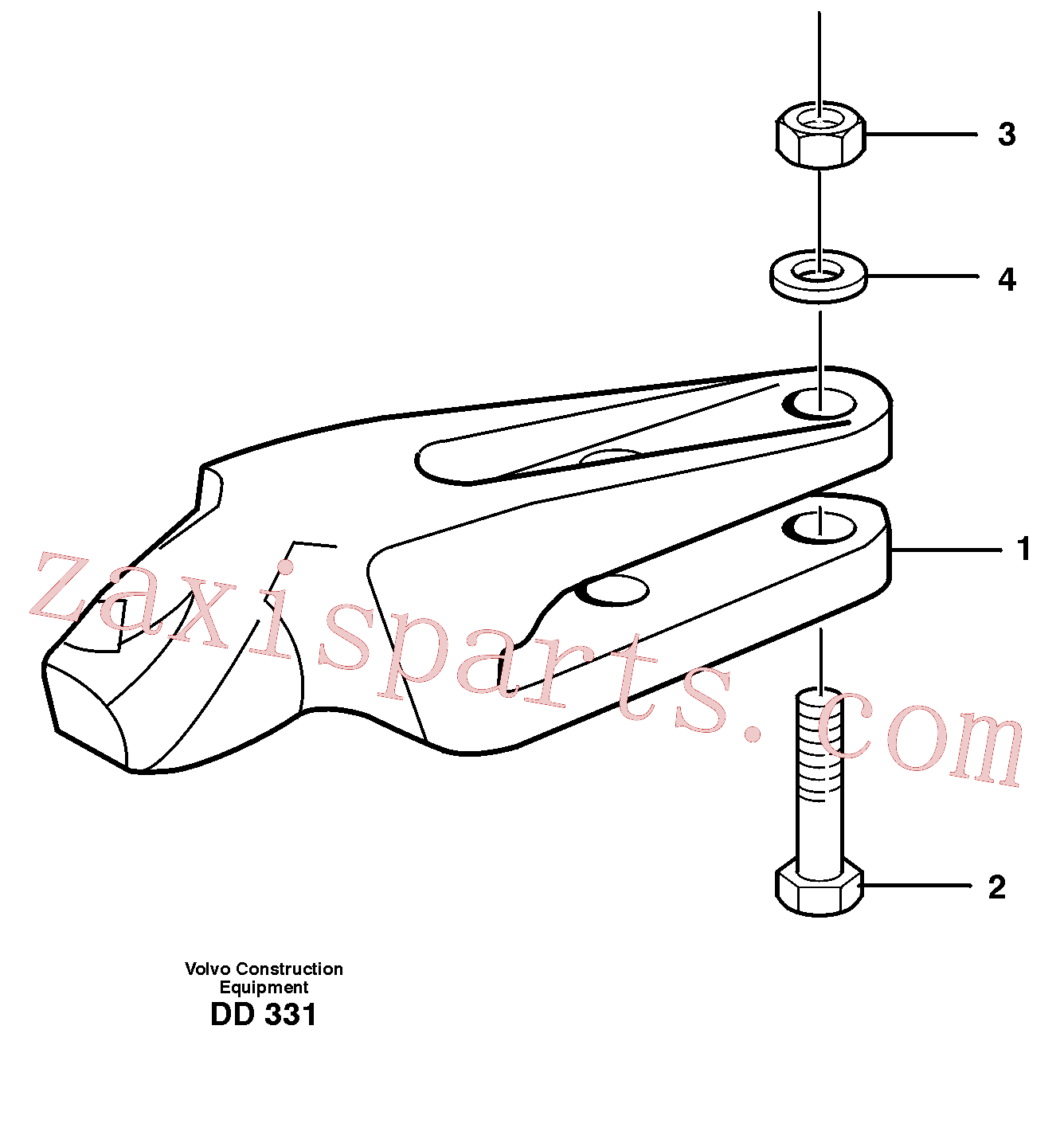 VOE978951 for Volvo Adapter kit(DD331 assembly)