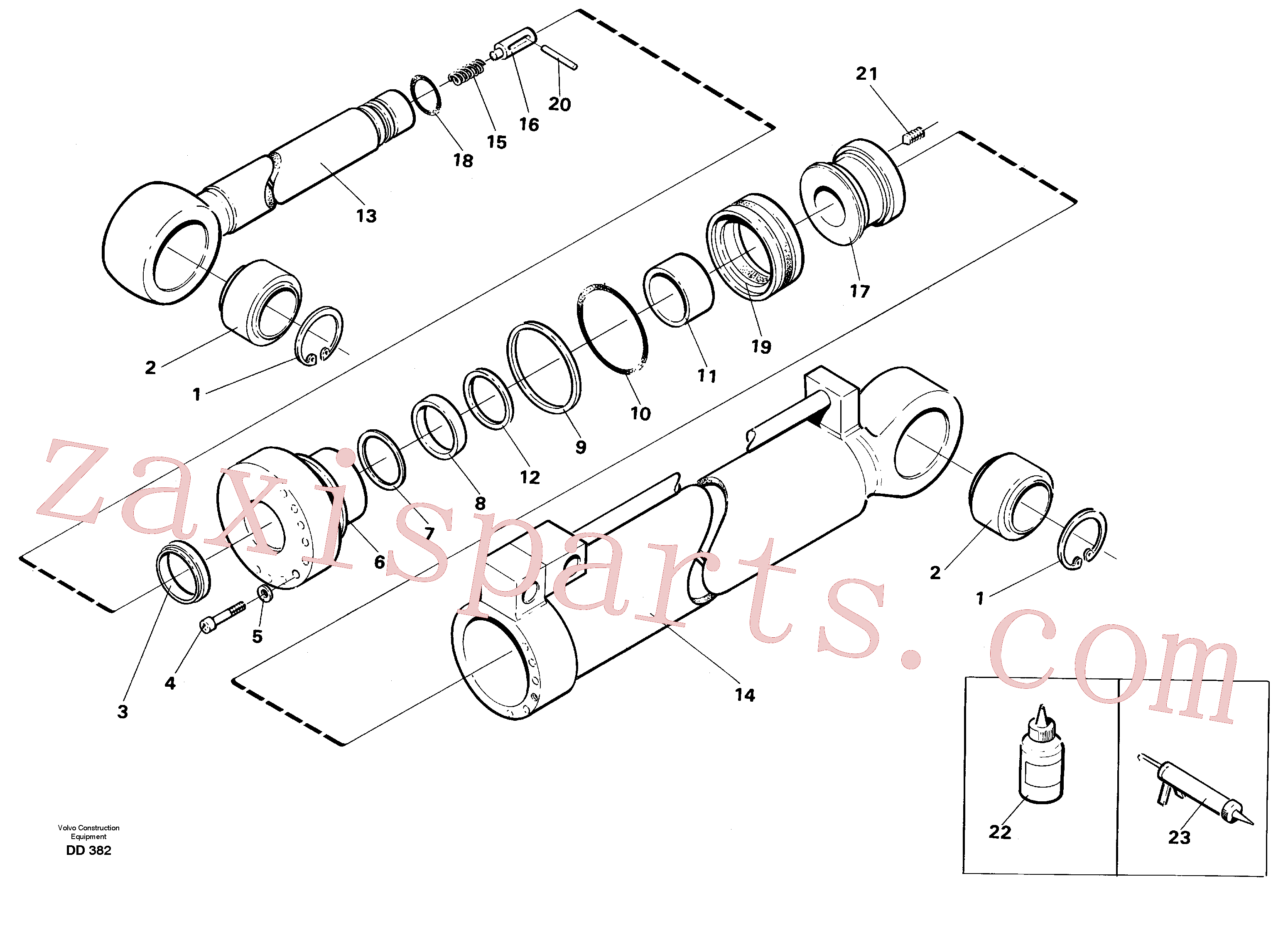 VOE14260829 for Volvo Visor cylinder, front loading equ.(DD382 assembly)