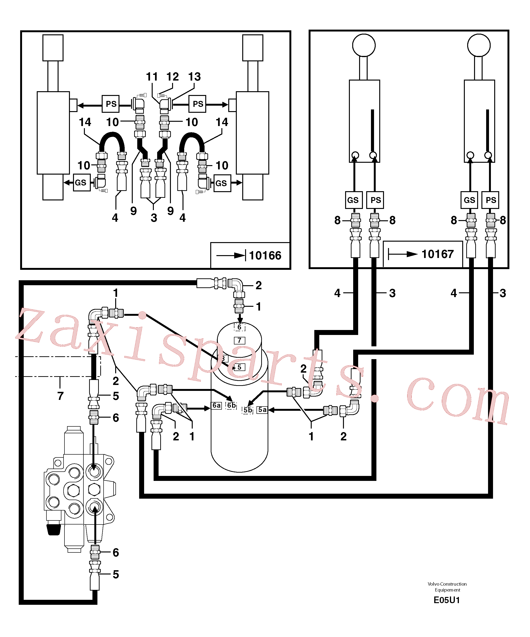 PJ4770071 for Volvo Hydr. circuit. ( dozer blade )(E05U1 assembly)