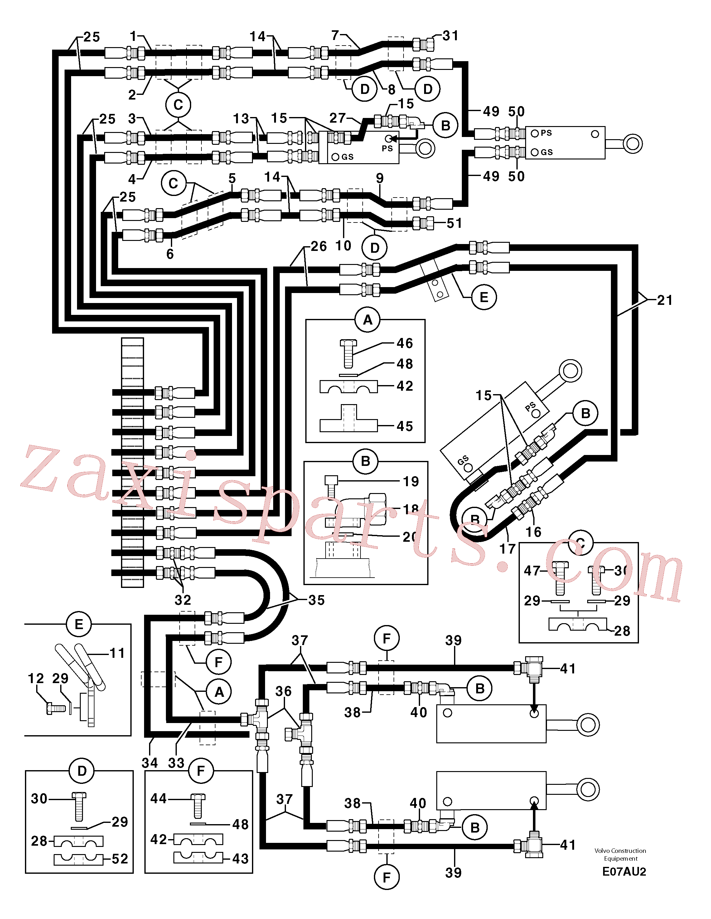 PJ4770071 for Volvo Hydr. circuit ( attachment ) ( continued )(E07AU2 assembly)
