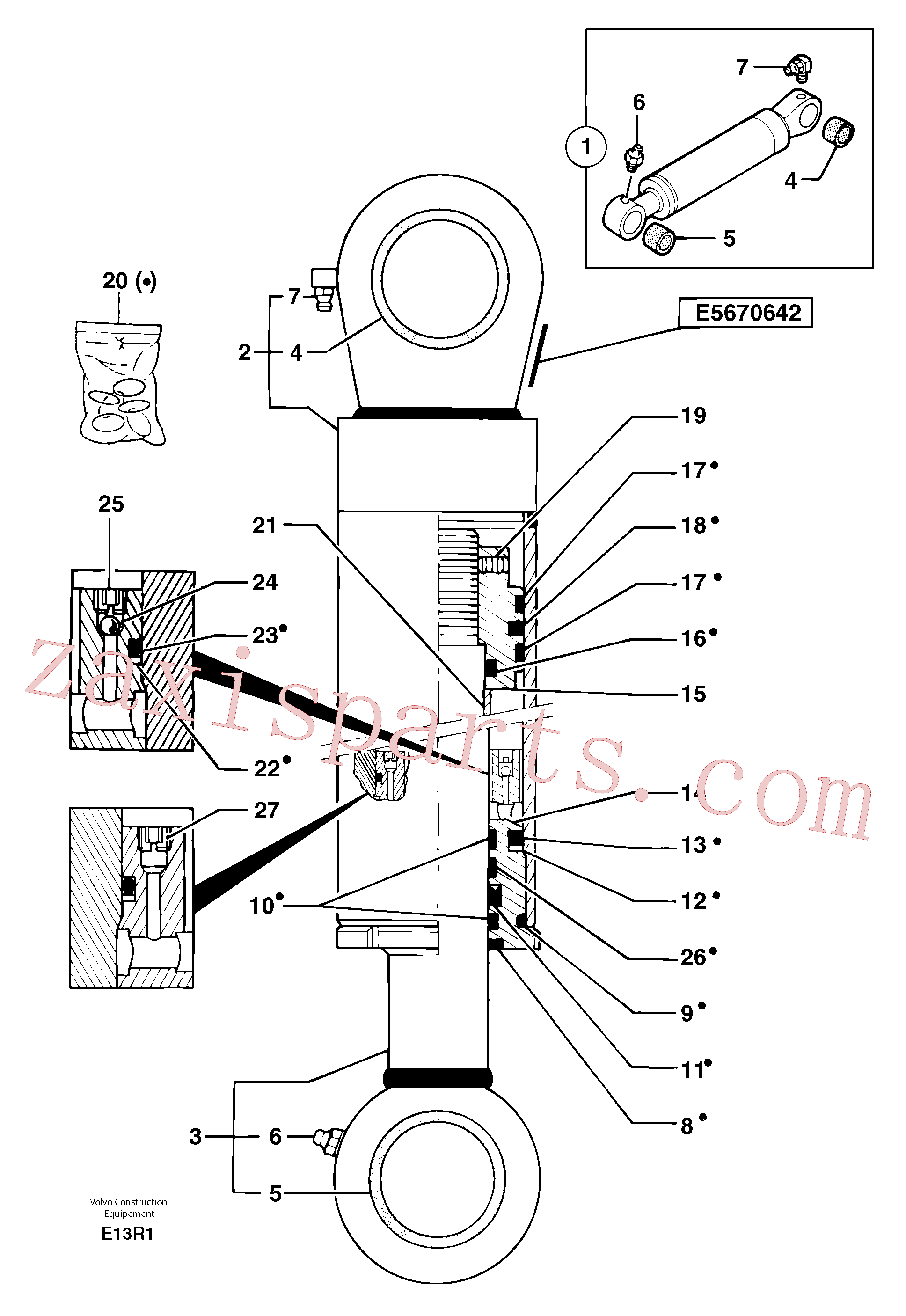 PJ3870066 for Volvo Boom cylinder(E13R1 assembly)
