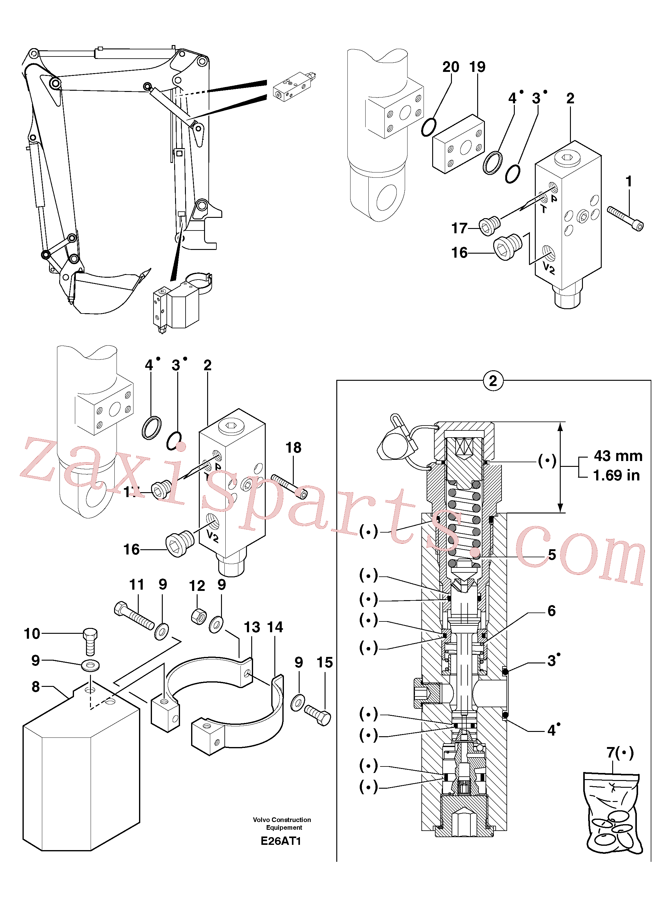 PJ4770724 for Volvo Safety valve ( boom cylinder )(E26AT1 assembly)