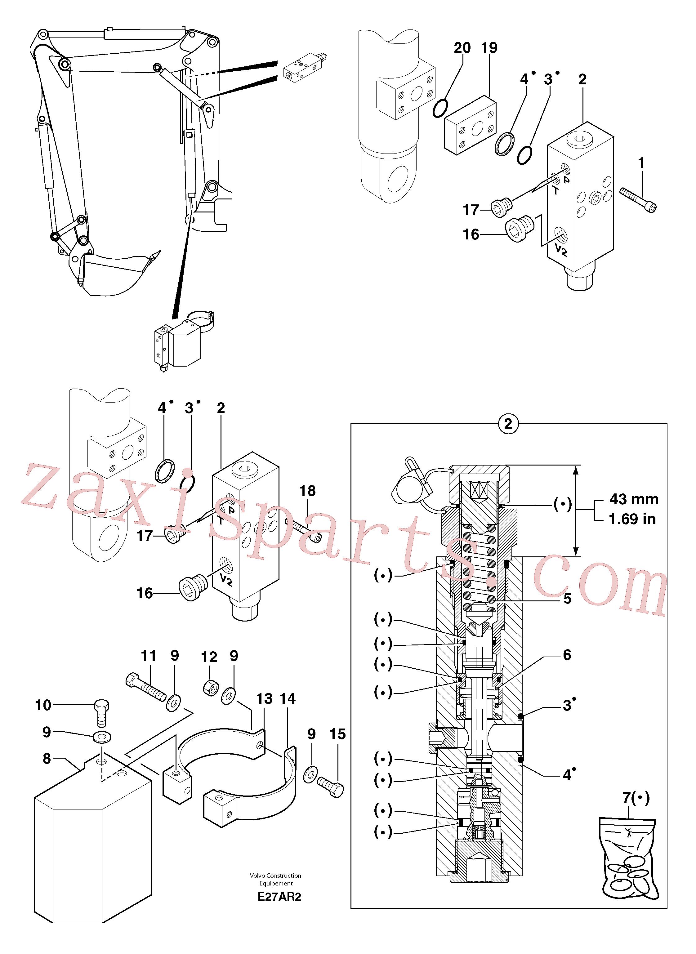 PJ4770724 for Volvo Safety valve ( boom cylinder )(E27AR2 assembly)
