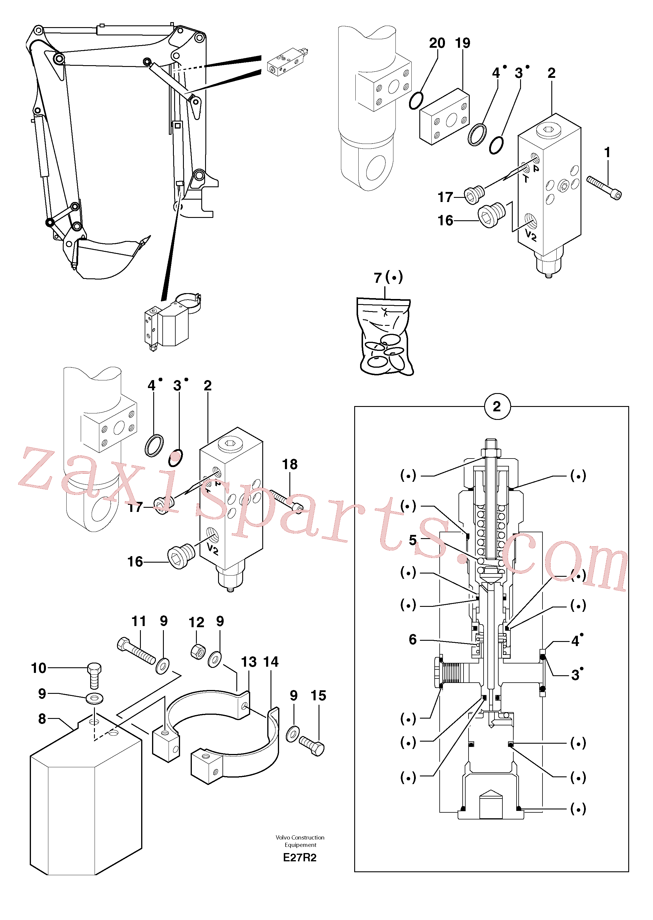 PJ4770724 for Volvo Safety valve(E27R2 assembly)