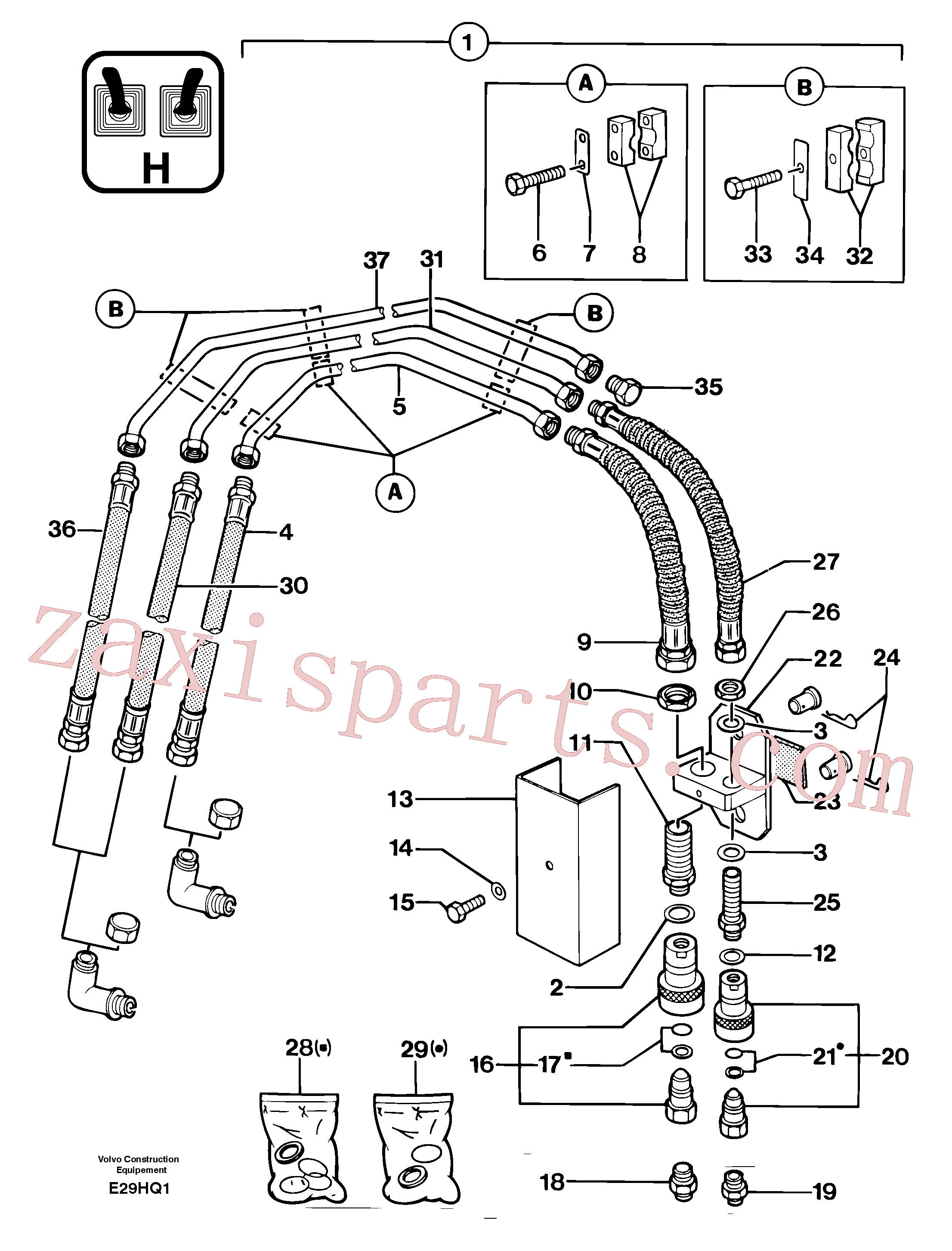 PJ4750191 for Volvo Hydraulic circuit ( accessories )(E29HQ1 assembly)