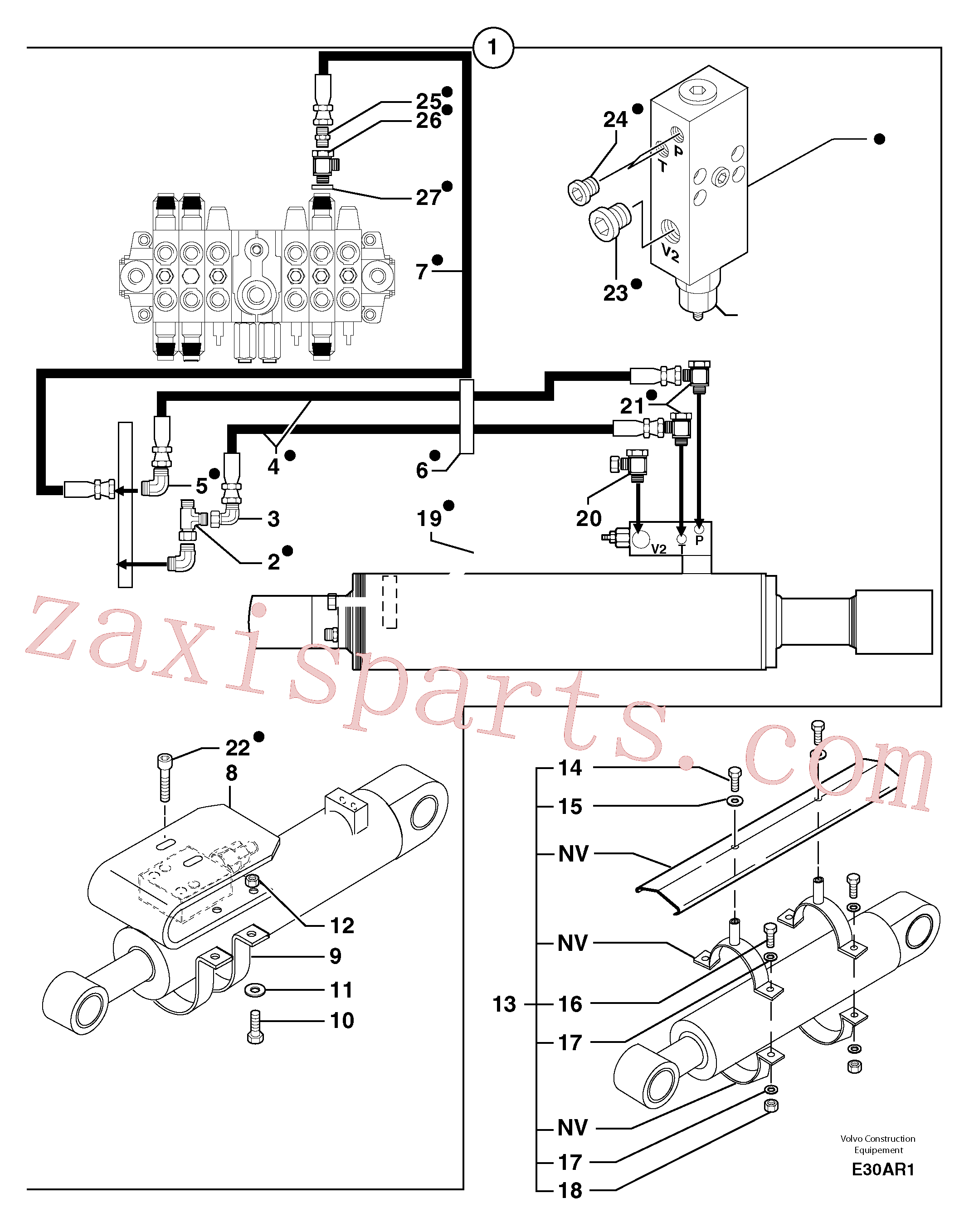 PJ6660258 for Volvo Supplement concerning handling operations / option(E30AR1 assembly)