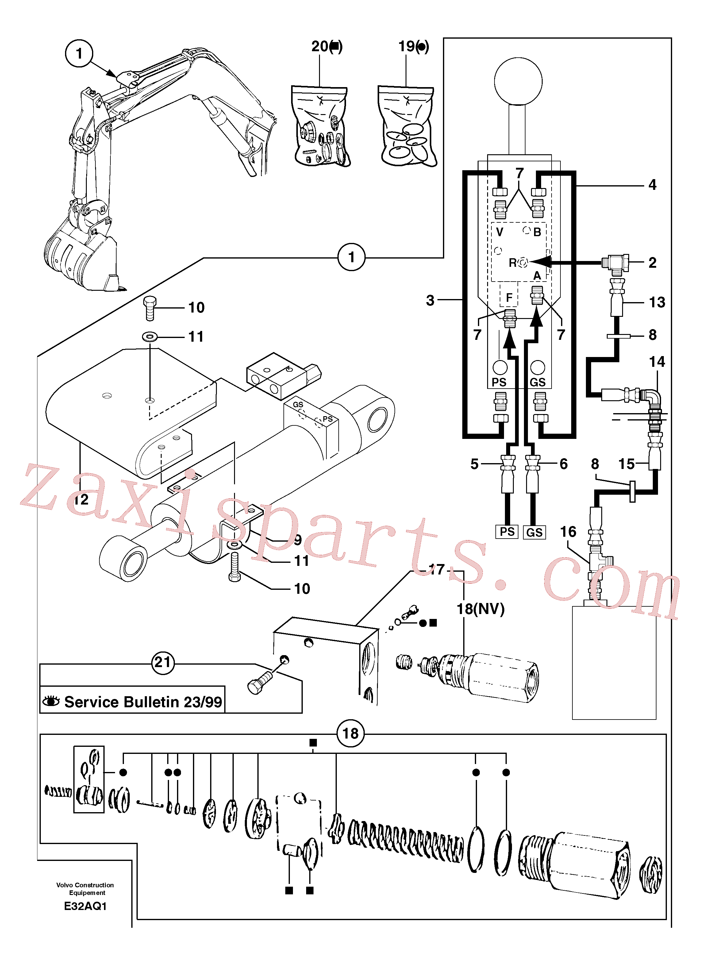 VOE11805549 for Volvo Safety valve ( dipper arm cylinder )(E32AQ1 assembly)