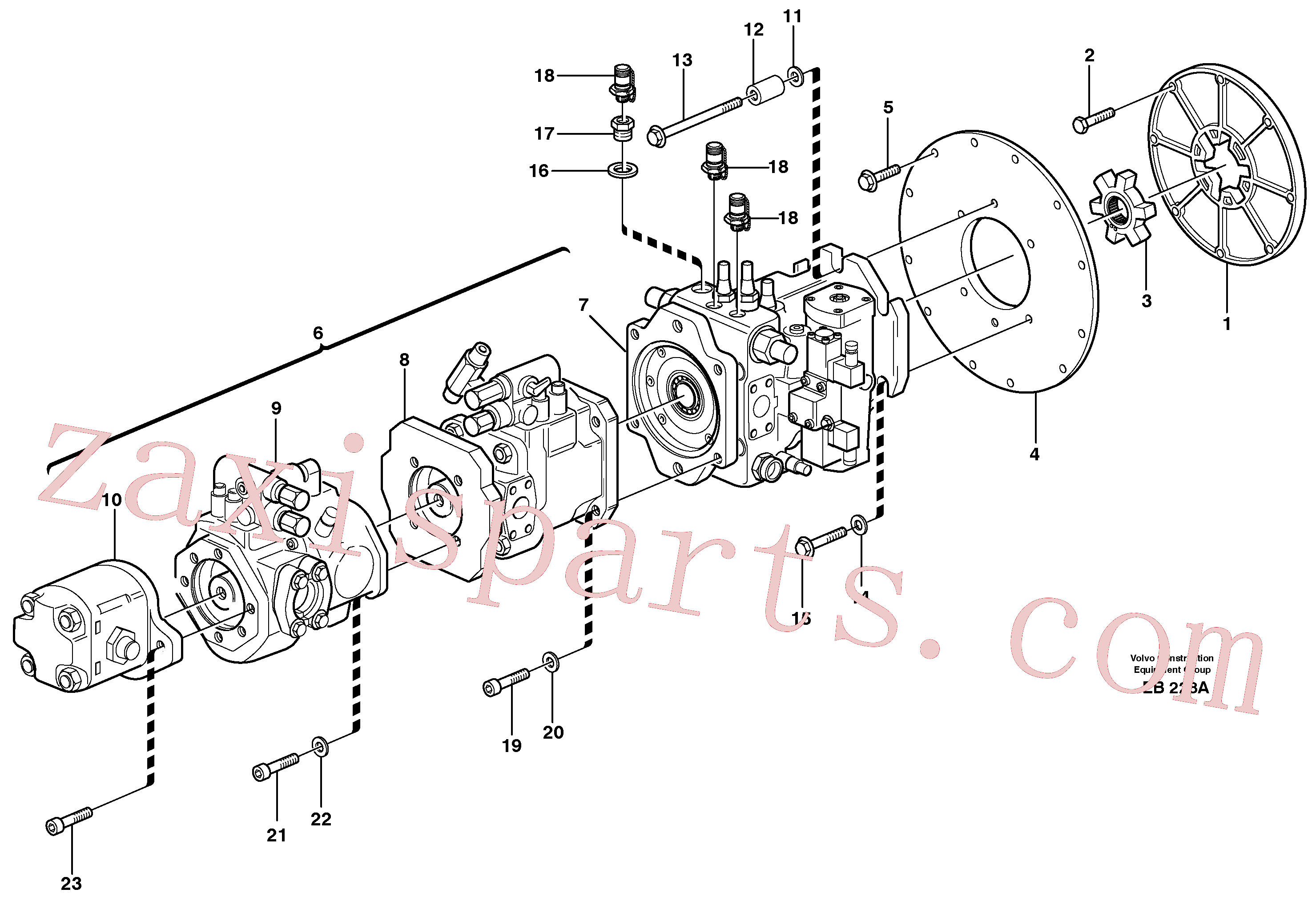 RM56251473 for Volvo Pump with fitting parts(EB228A assembly)
