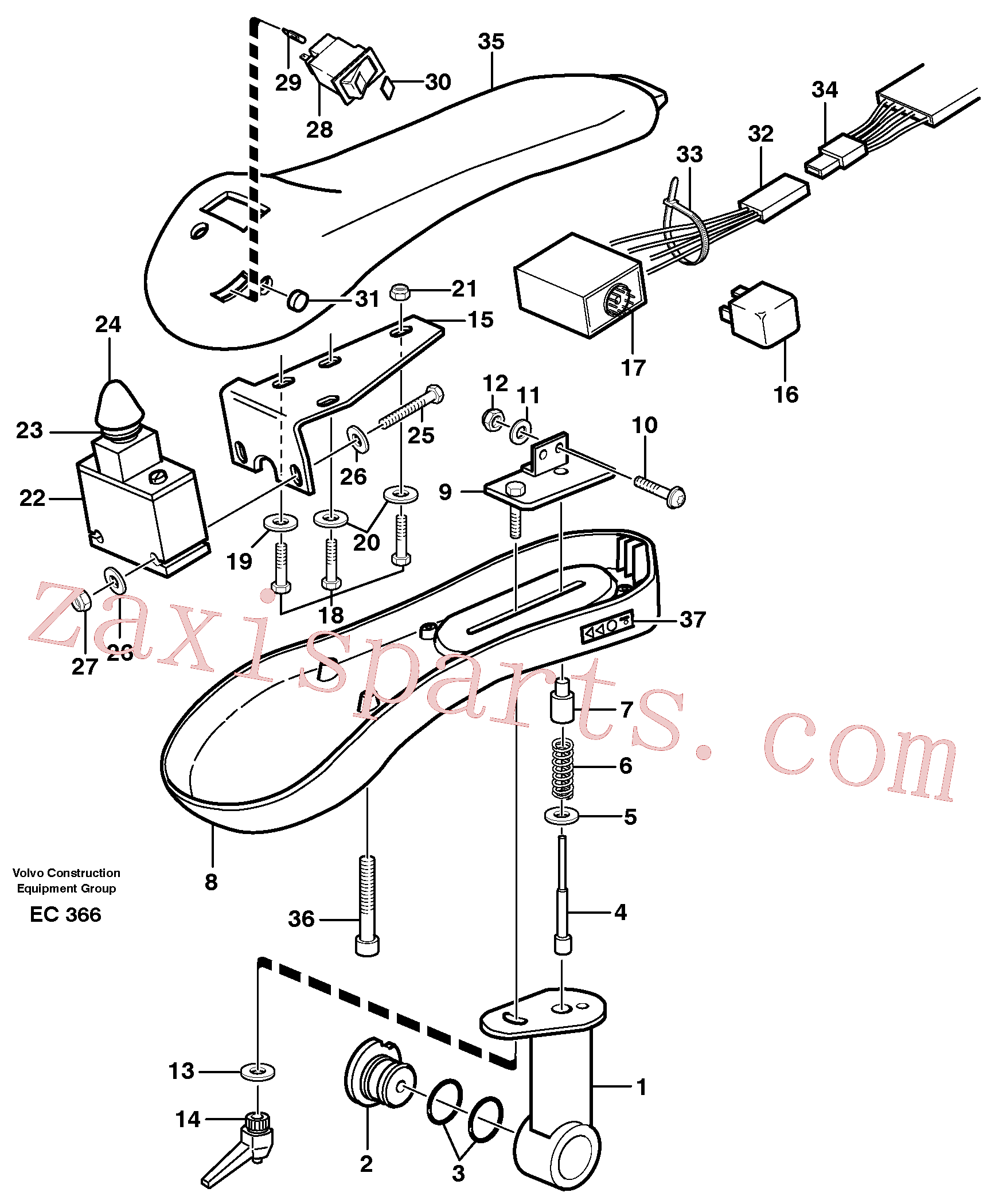 VOE969440 for Volvo Arm rest.(EC366 assembly)
