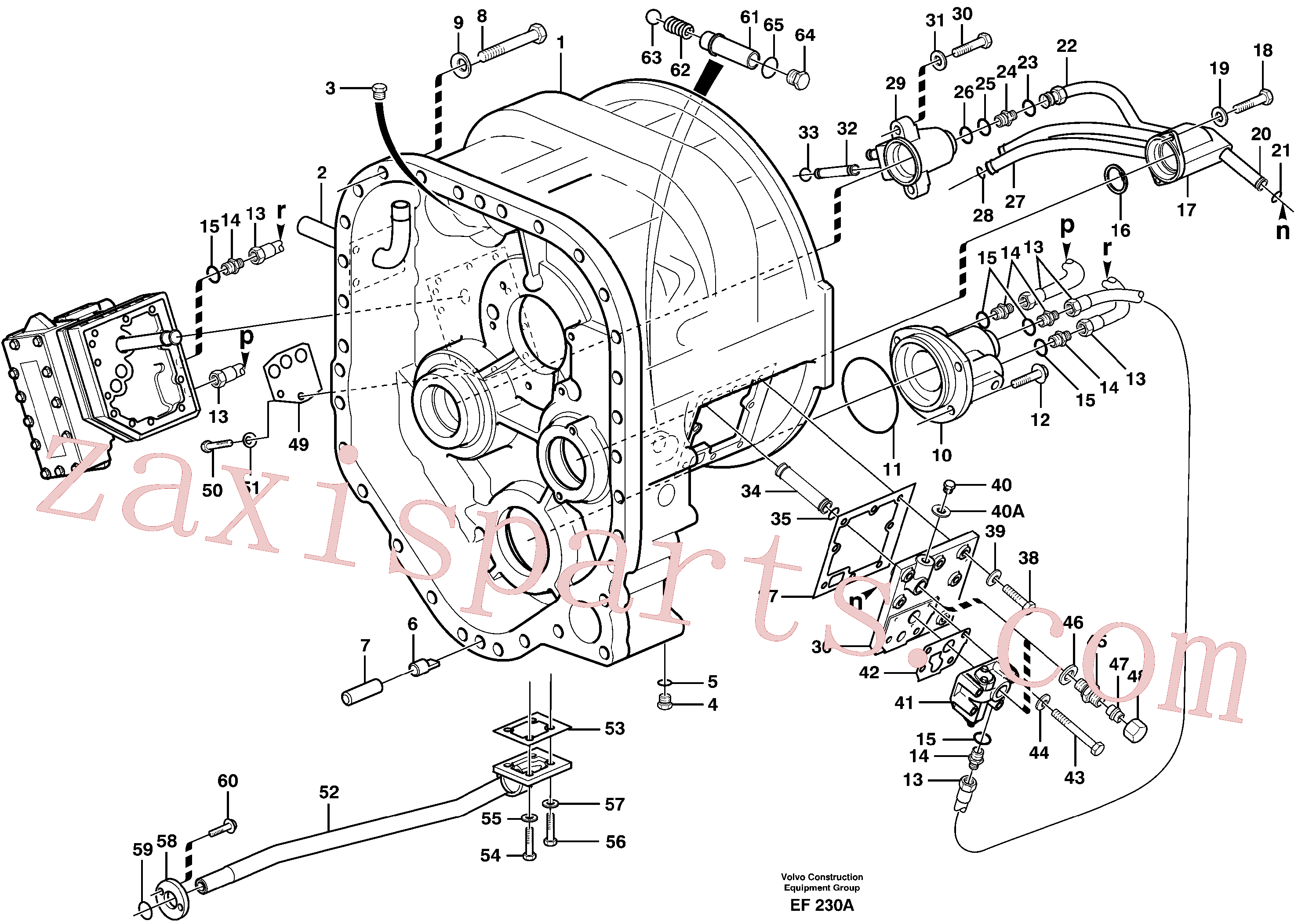 VOE14014596 for Volvo Converter housing with fitting parts(EF230A assembly)