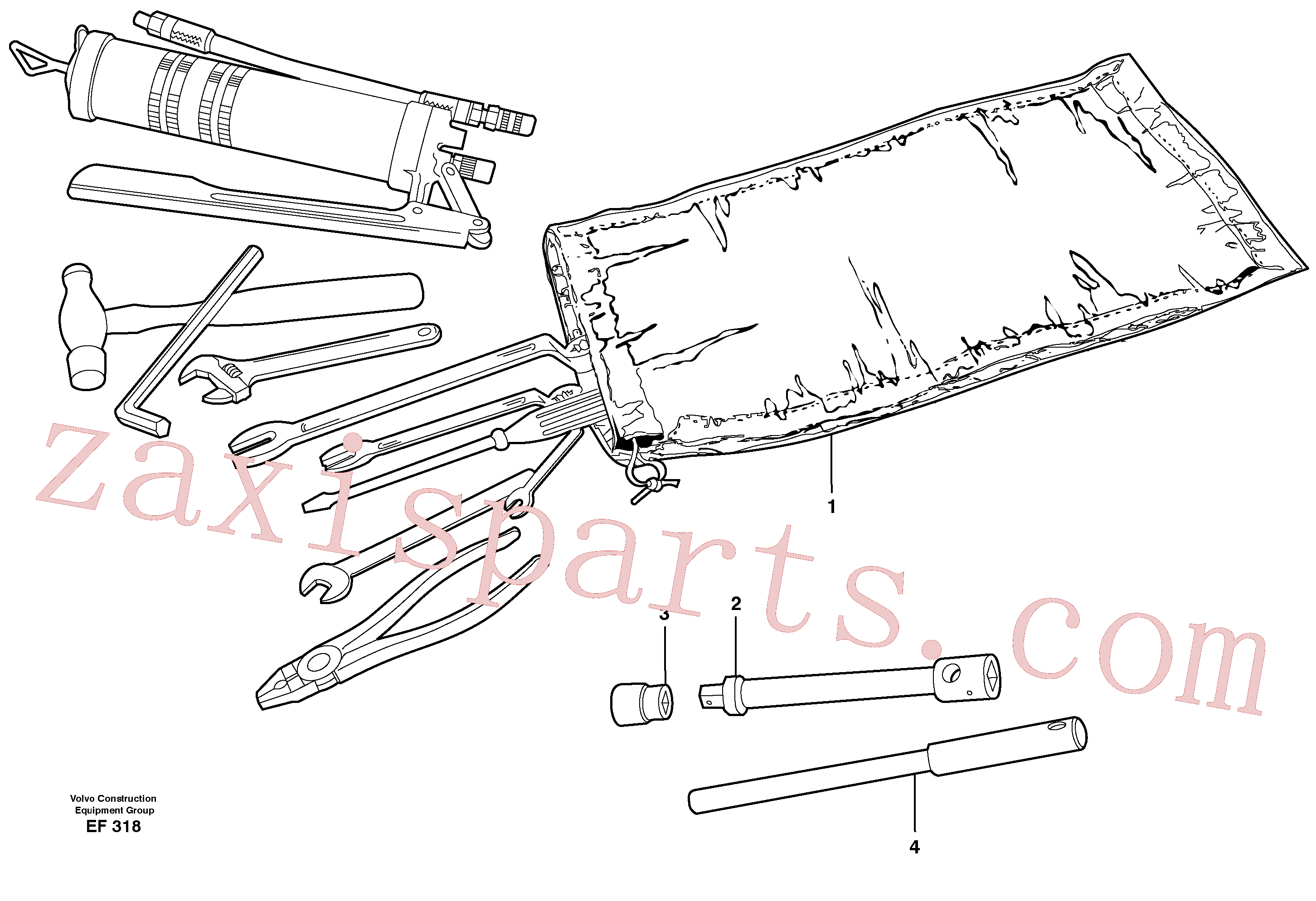 VOE11180049 for Volvo Tools(EF318 assembly)