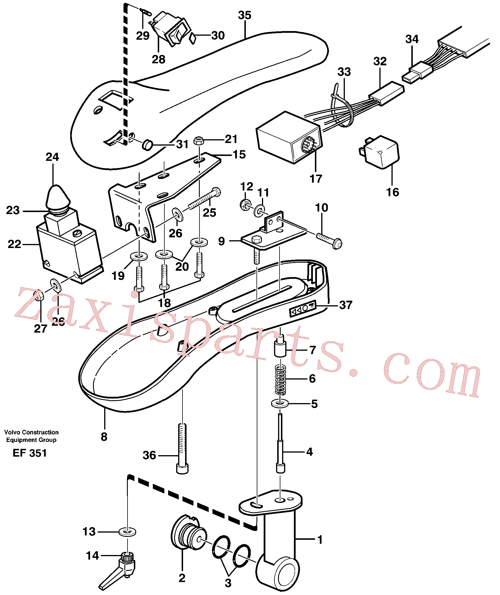 VOE969440 for Volvo Arm rest.(EF351 assembly)