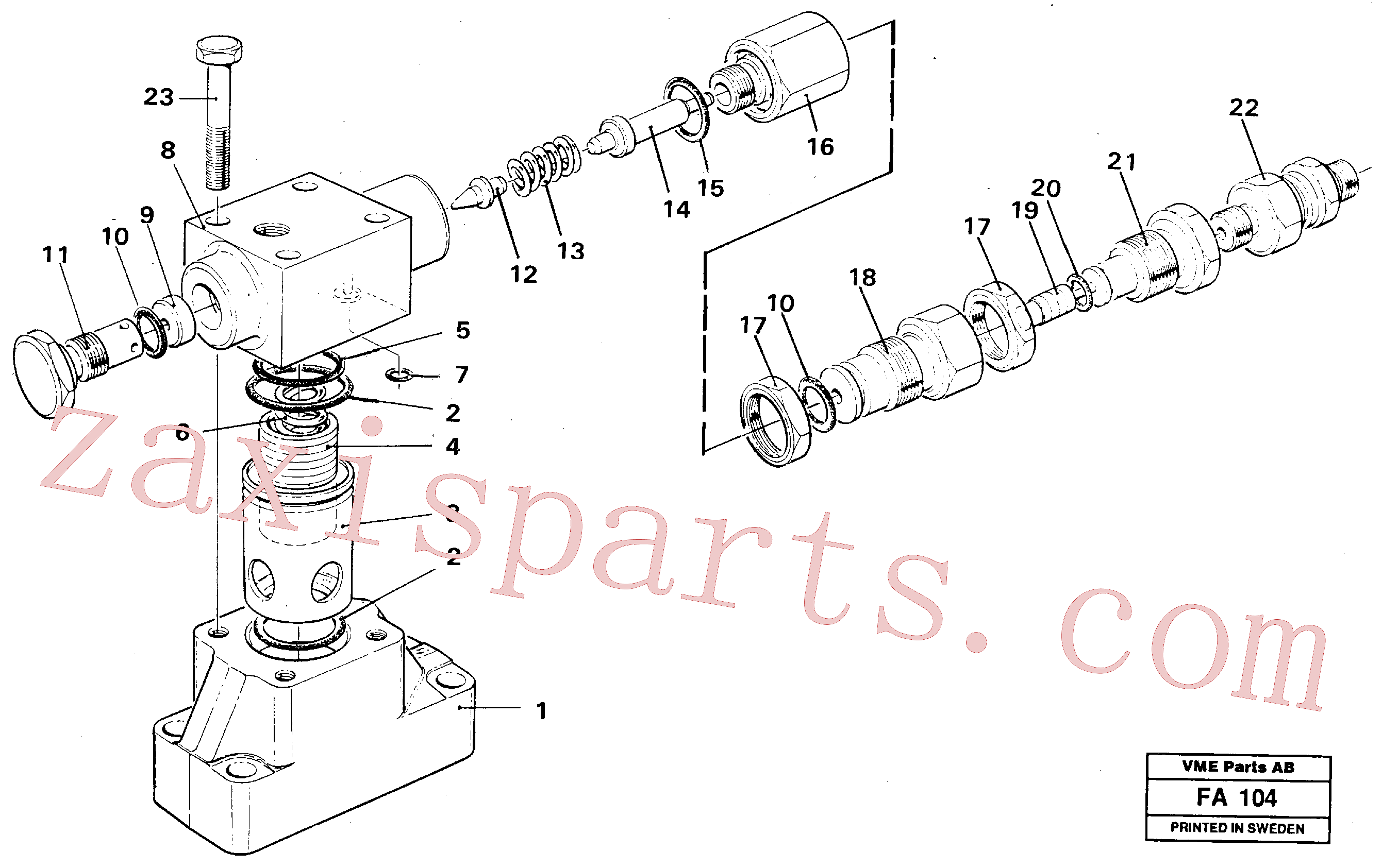 VOE14340724 for Volvo Pressure limiting valve(FA104 assembly)
