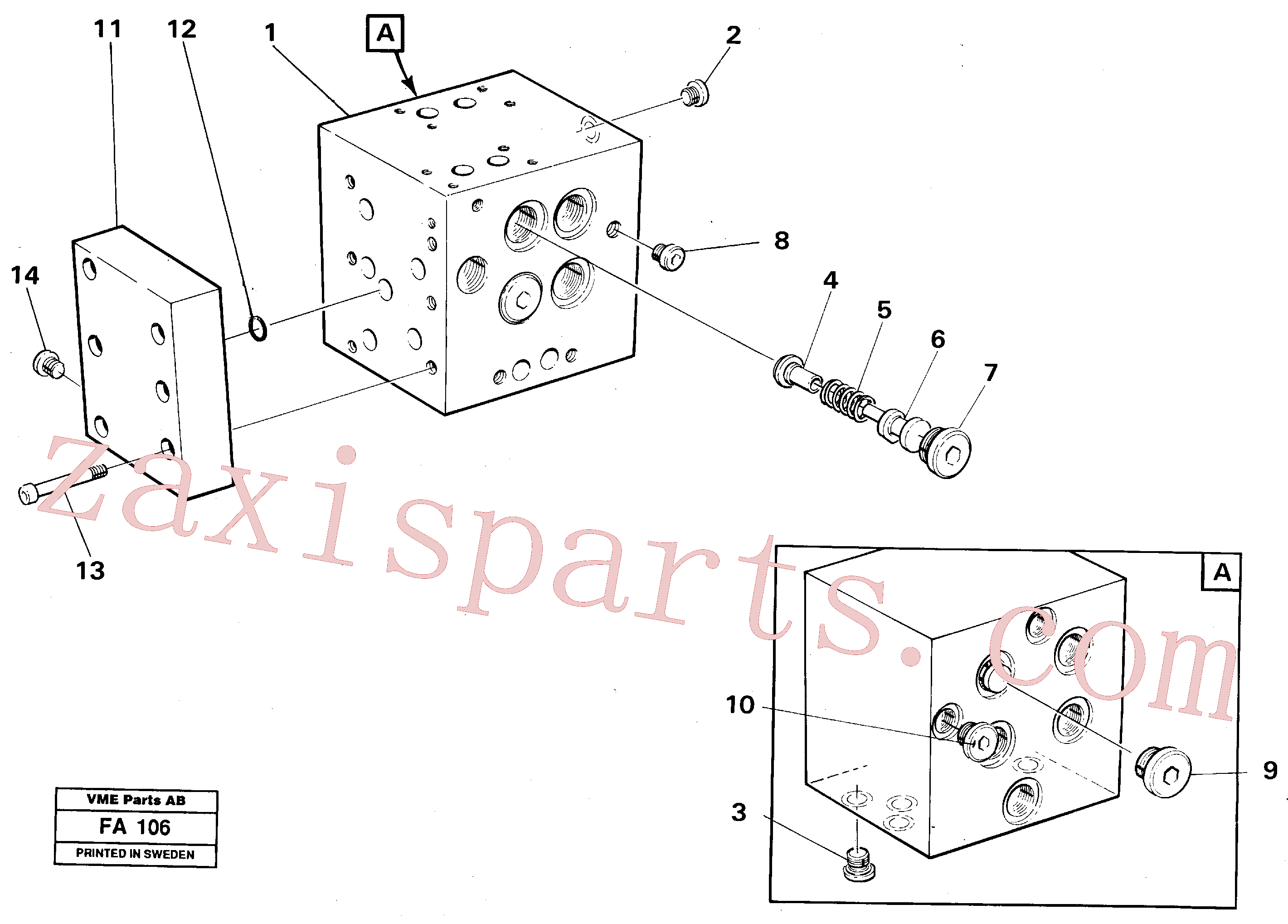 VOE14264397 for Volvo Slew valve block(FA106 assembly)