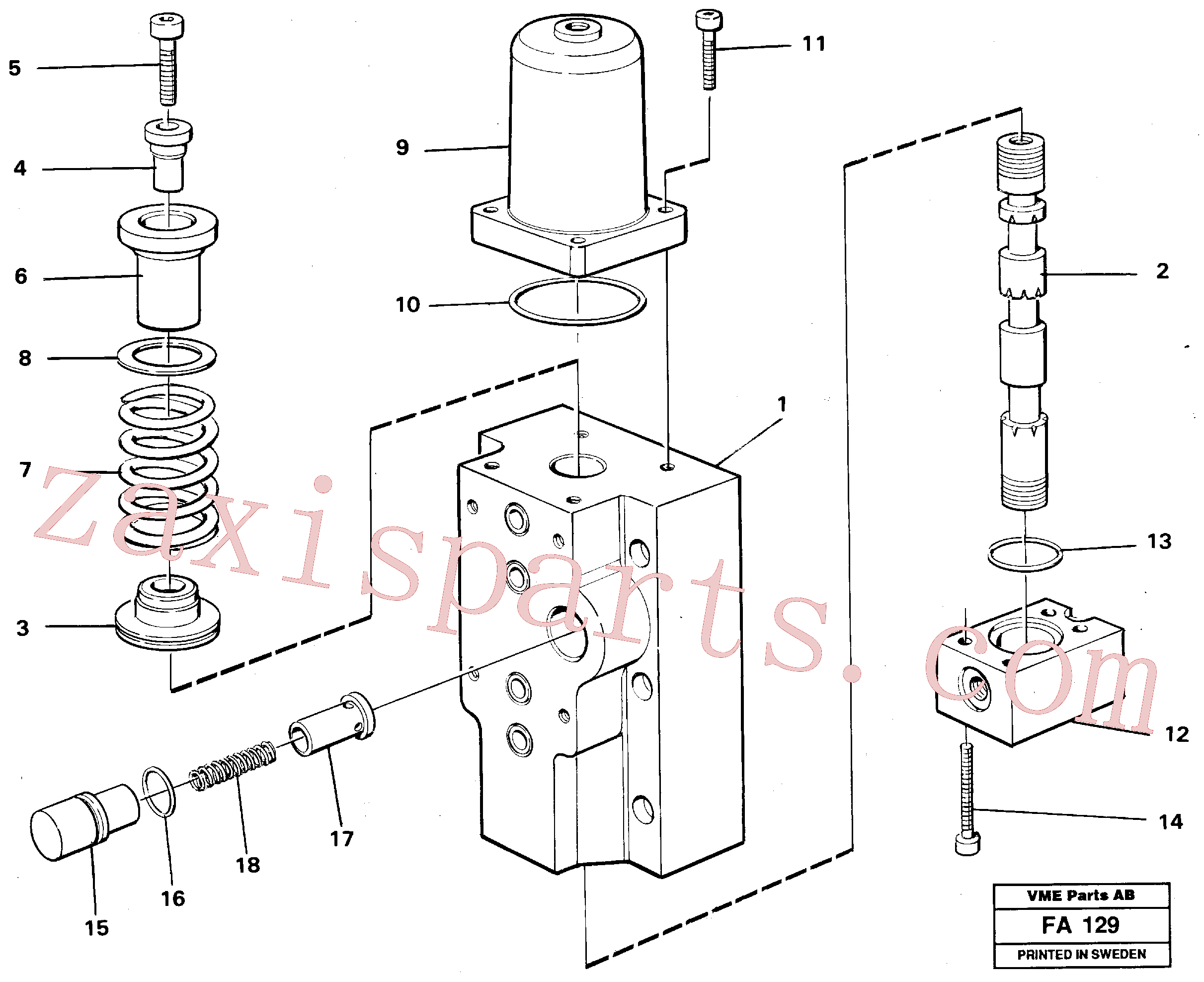 VOE14252113 for Volvo Four-way valves, Secondary(FA129 assembly)