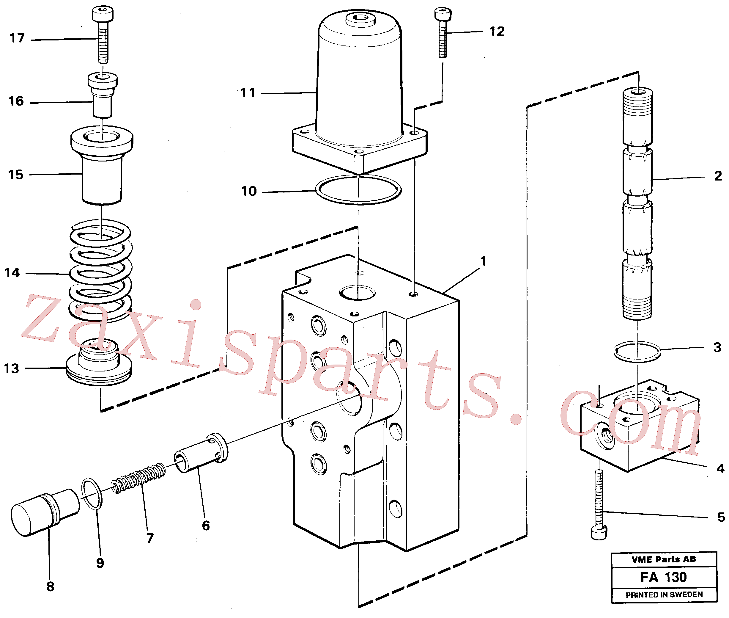 VOE14048555 for Volvo Four-way valve Primary(FA130 assembly)