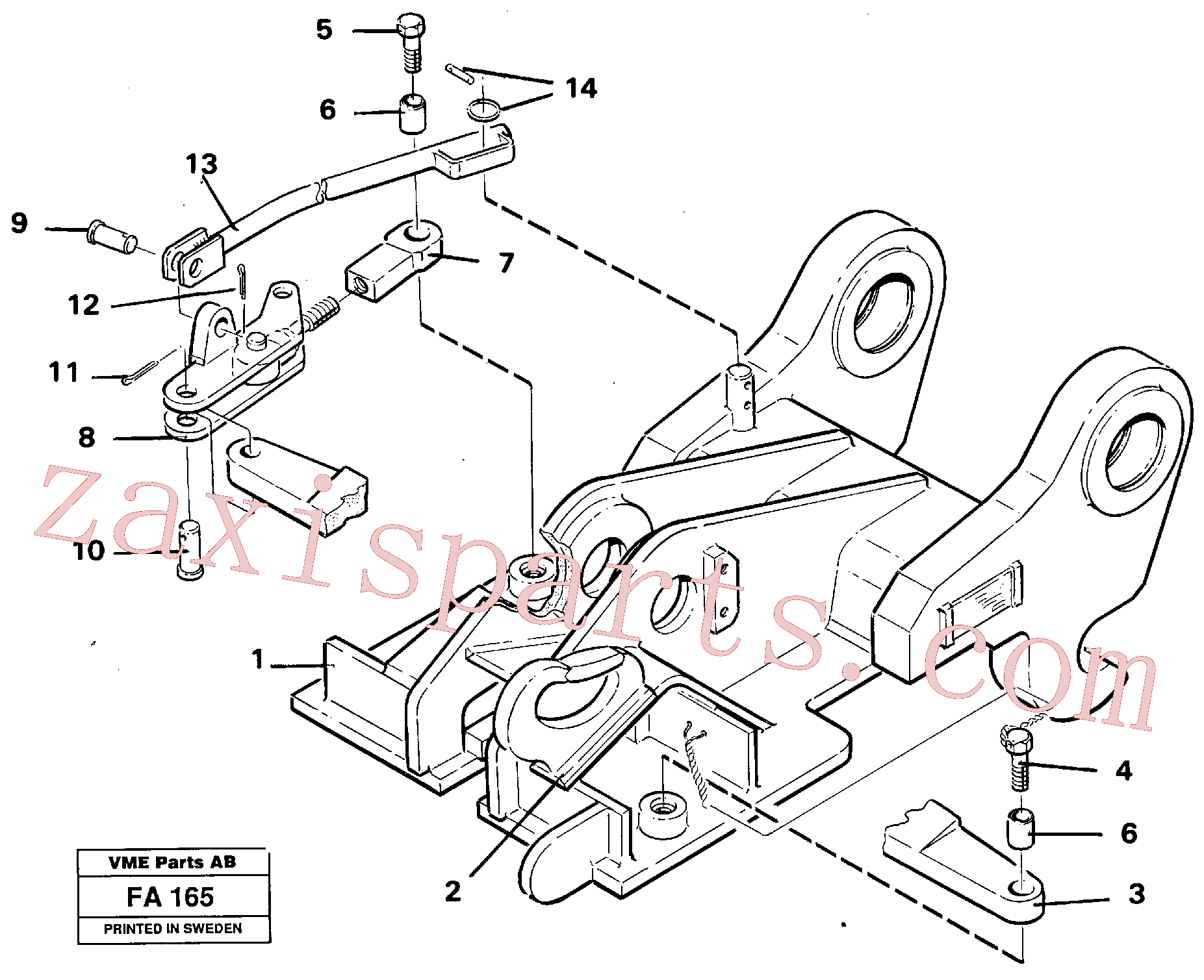 VOE14236217 for Volvo Quickfit, mechanical(FA165 assembly)