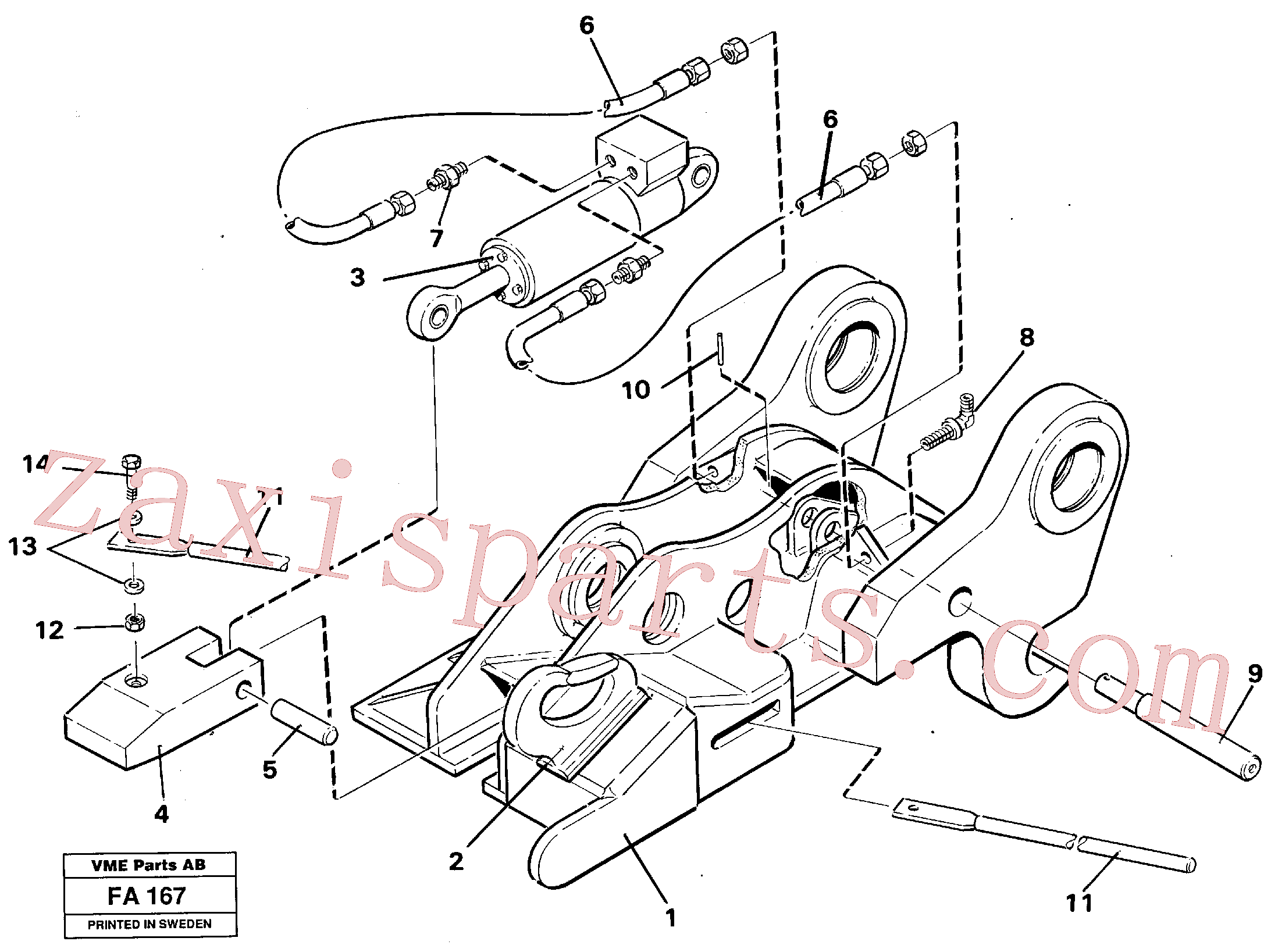 VOE14237587 for Volvo Quickfit, hydraulic(FA167 assembly)