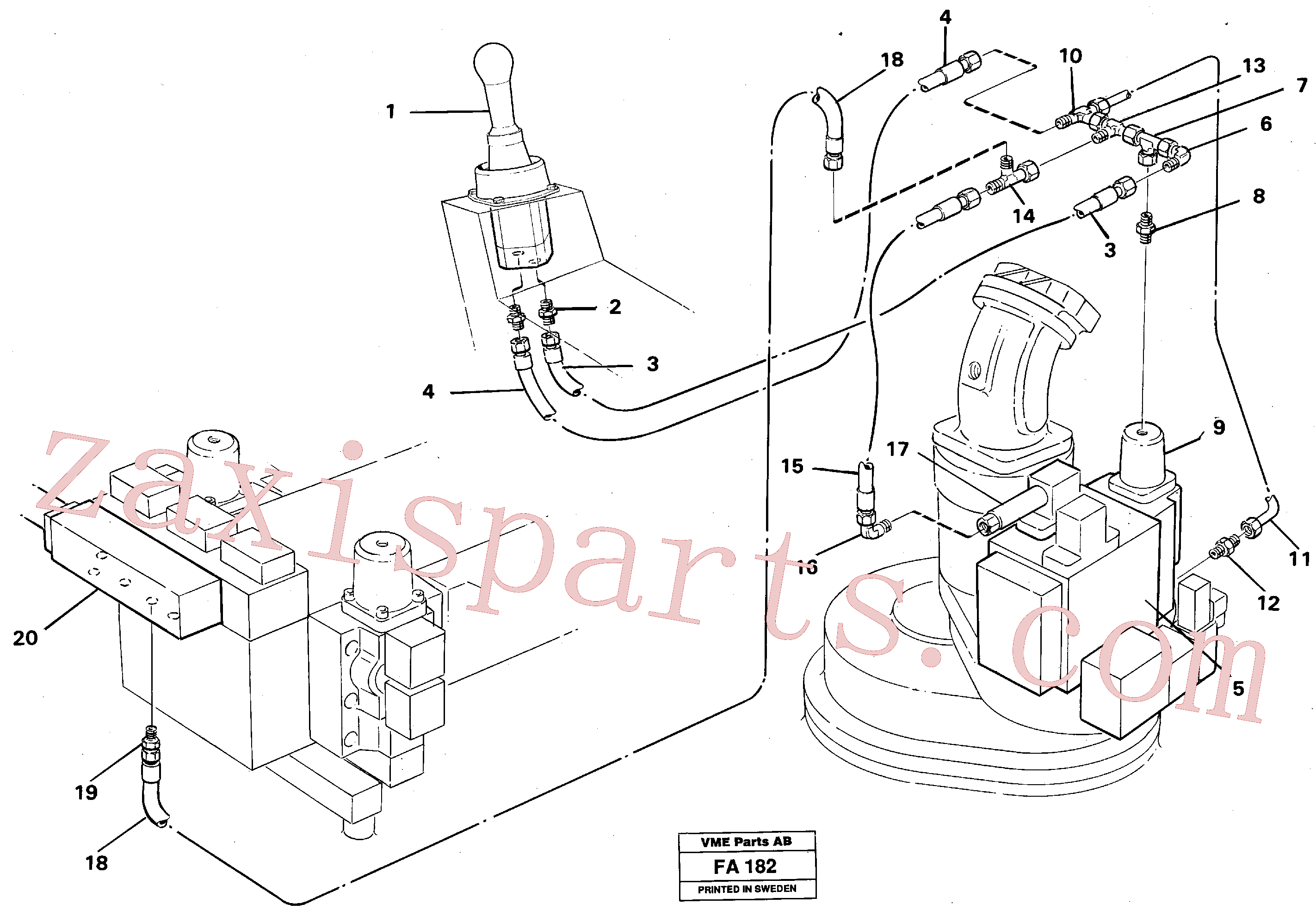 VOE14245230 for Volvo Servo hydraulics, slewing(FA182 assembly)