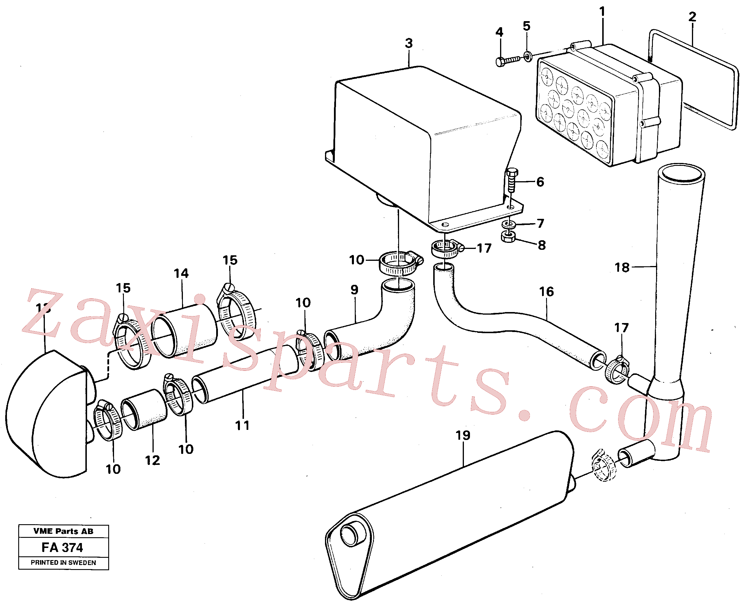 VOE14248986 for Volvo Precyclone with ejector(FA374 assembly)