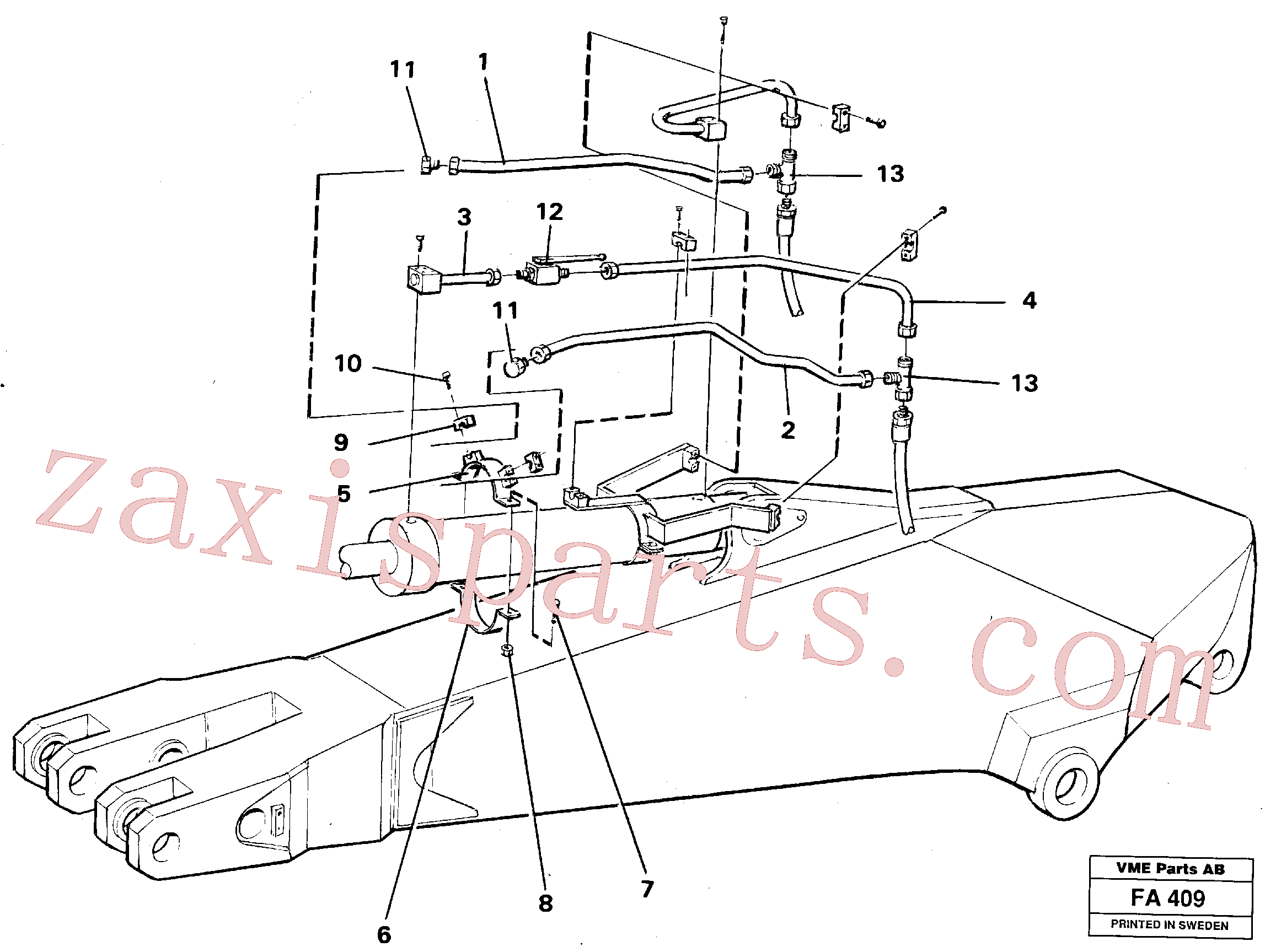 VOE14249977 for Volvo Parallel connected grab hydraulics on dipper arm.(FA409 assembly)